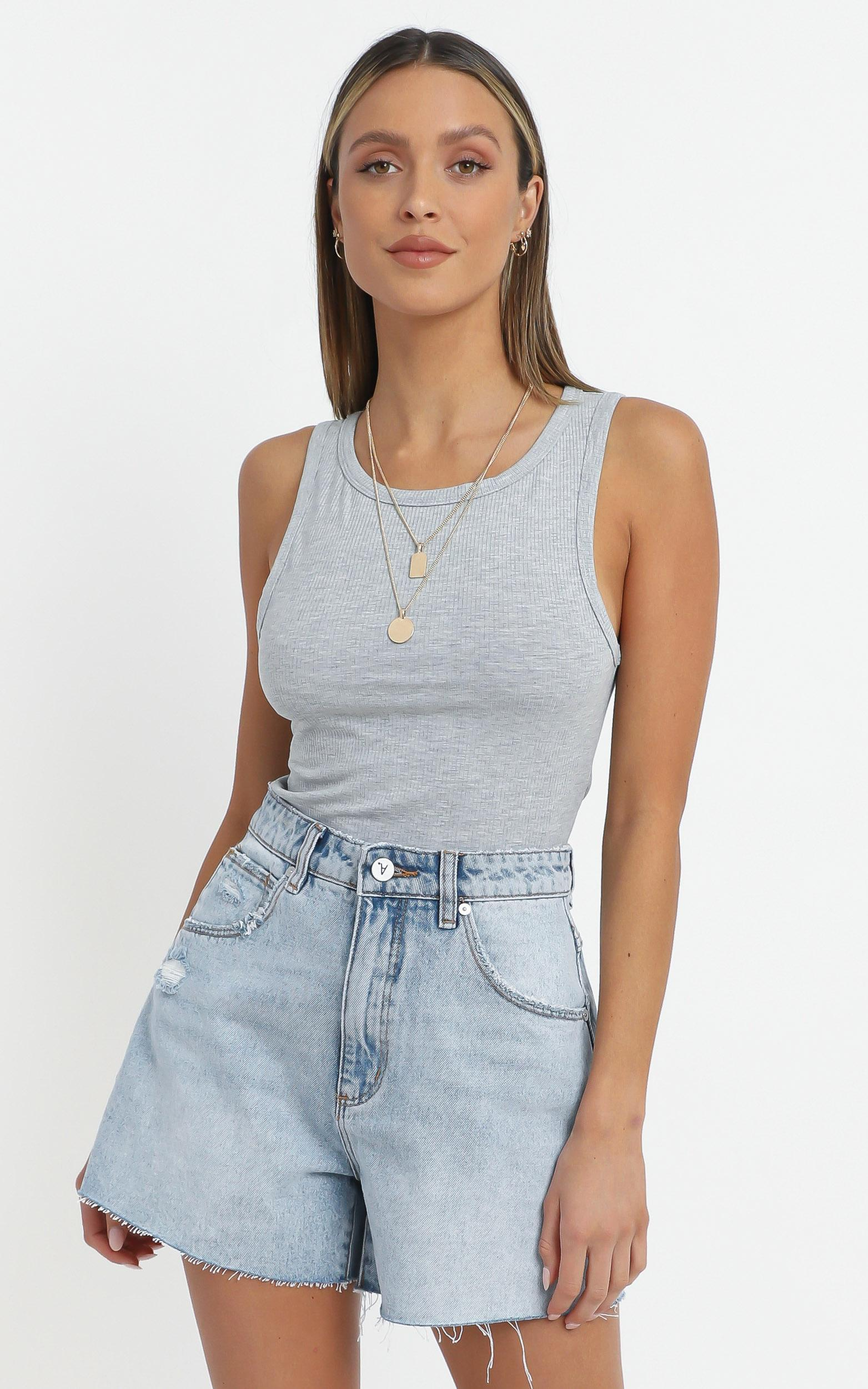 Cant You Tell Top In Grey - 16 (XXL), GRY1, hi-res image number null