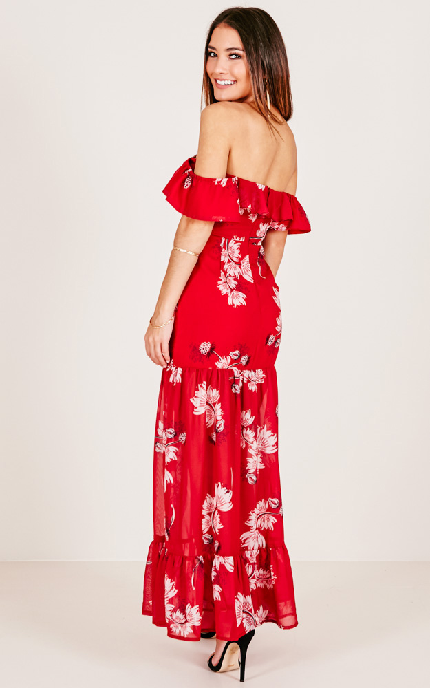 After You Dress in Red Floral - 12 (L), Red, hi-res image number null