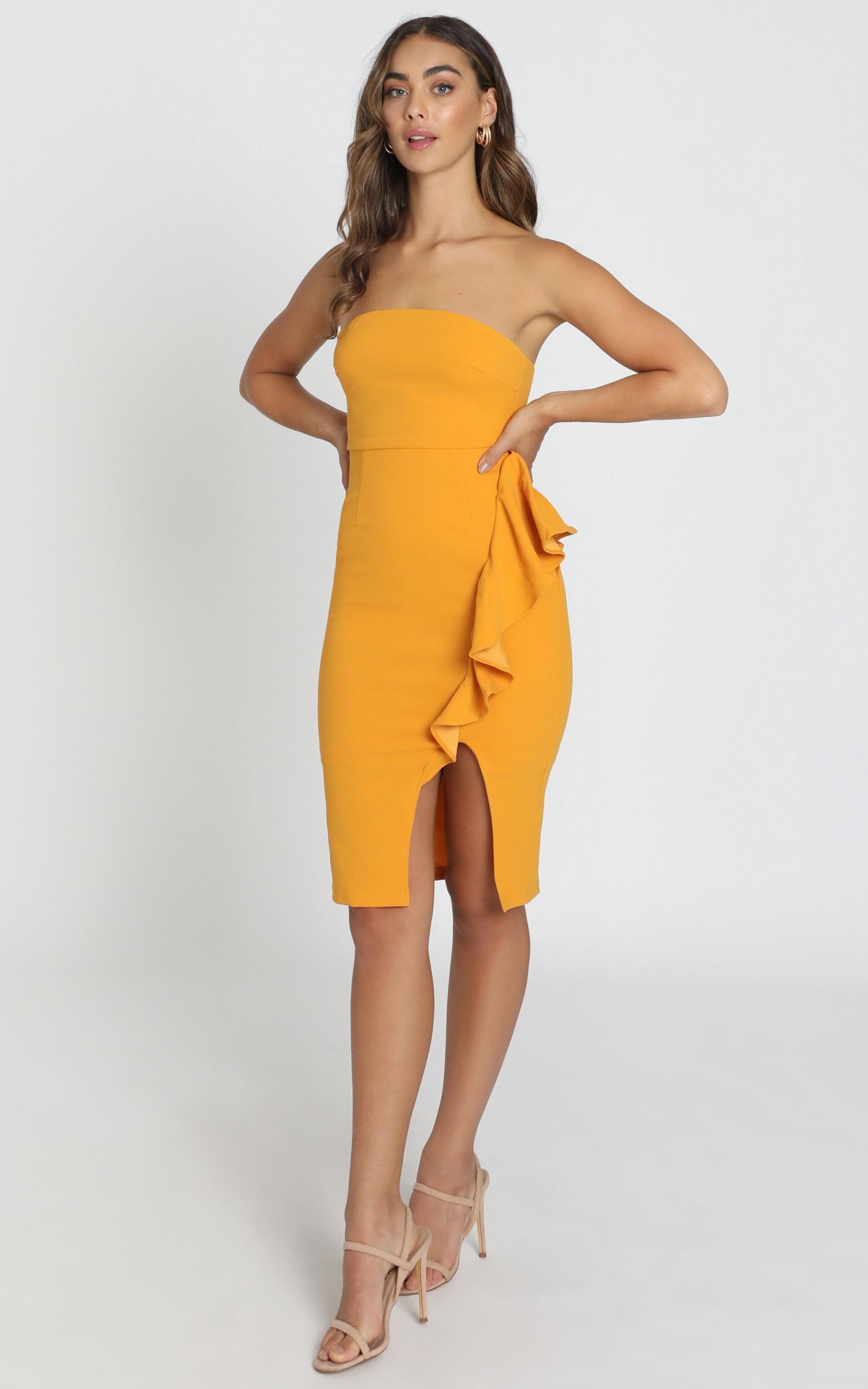 Anita Dress in mustard - 6 (XS), Mustard, hi-res image number null