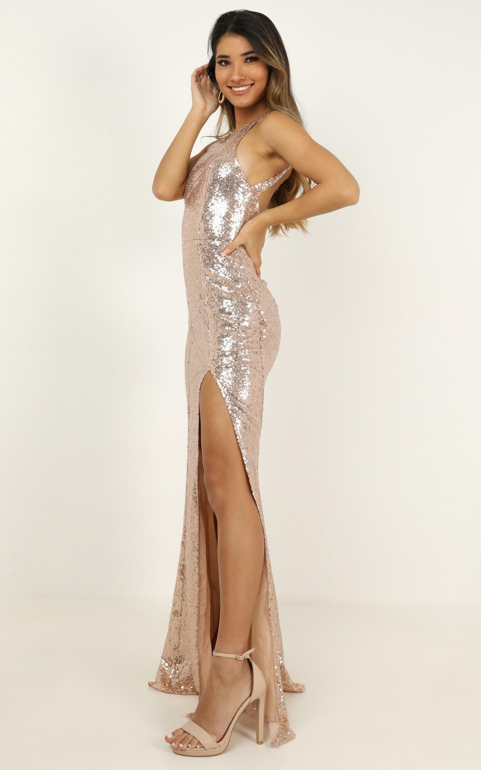 About the drama dress in Champagne Sequin - 20 (XXXXL), Beige, hi-res image number null