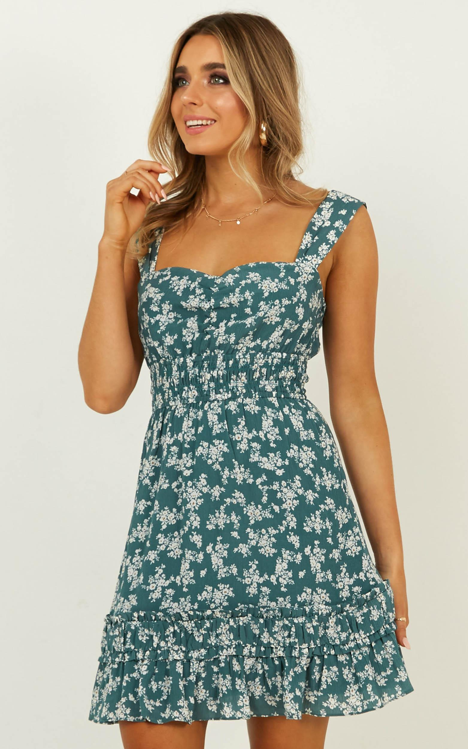 Telling The Truth Dress in sage floral - 20 (XXXXL), Sage, hi-res image number null