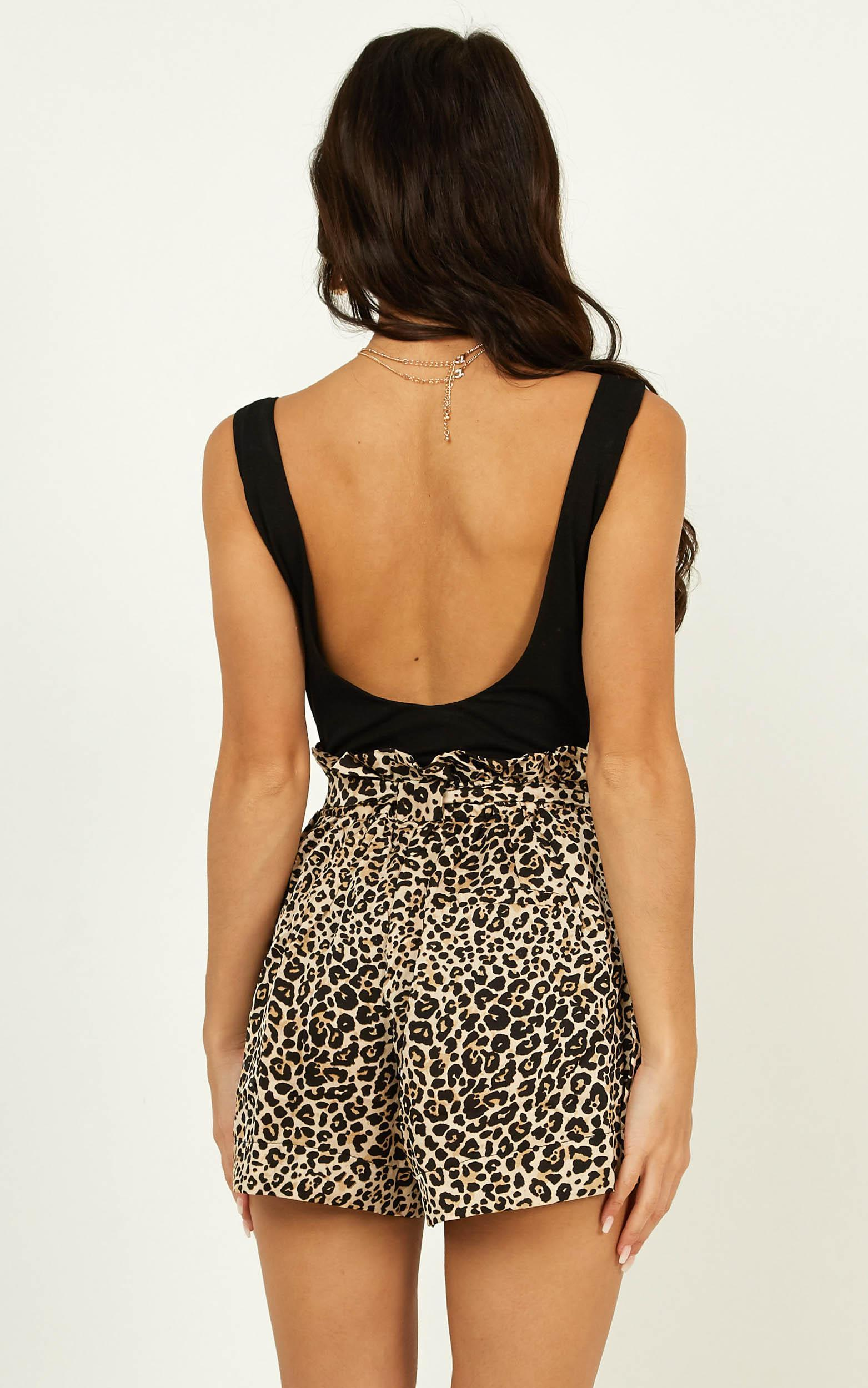 All Rounder Shorts in leopard print - 20 (XXXXL), Brown, hi-res image number null