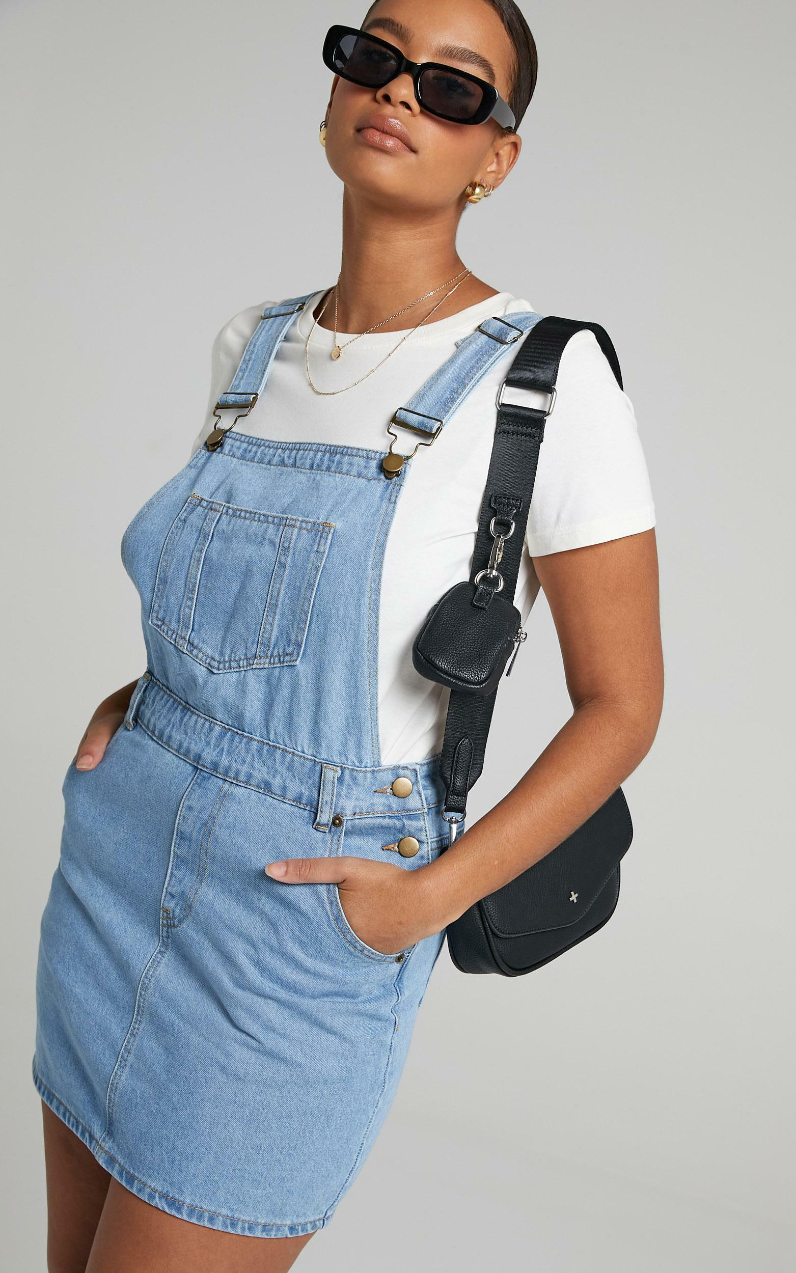 Talisha Pinafore in Blue Wash - 6 (XS), Blue, hi-res image number null