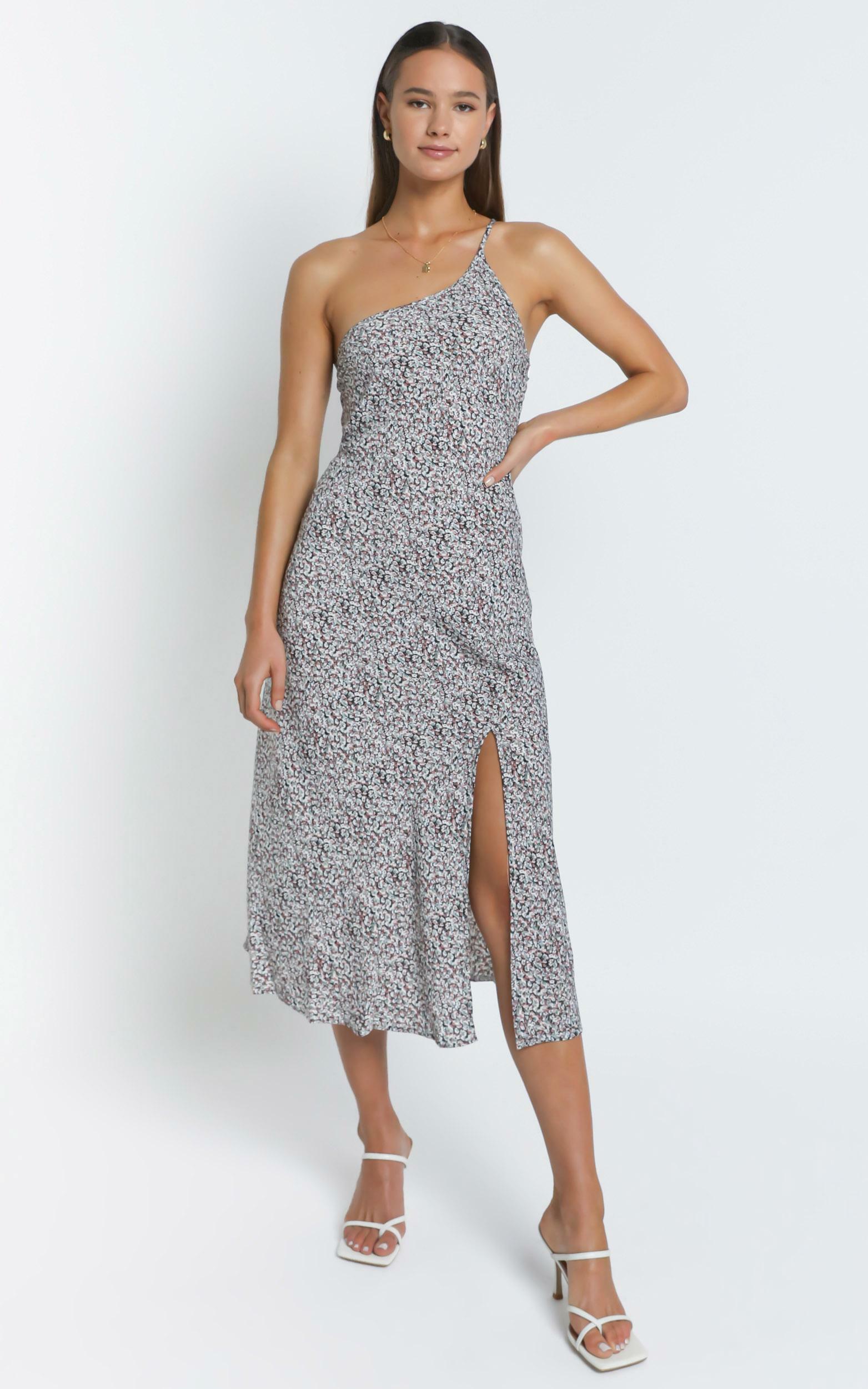 Amaya Dress in Black Floral - 6 (XS), BLK1, hi-res image number null
