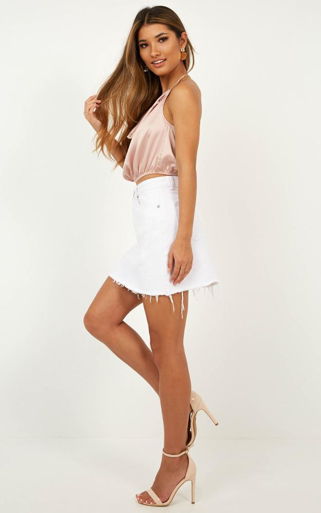 Only Us Two Top in champagne satin - 20 (XXXXL), Beige, hi-res image number null