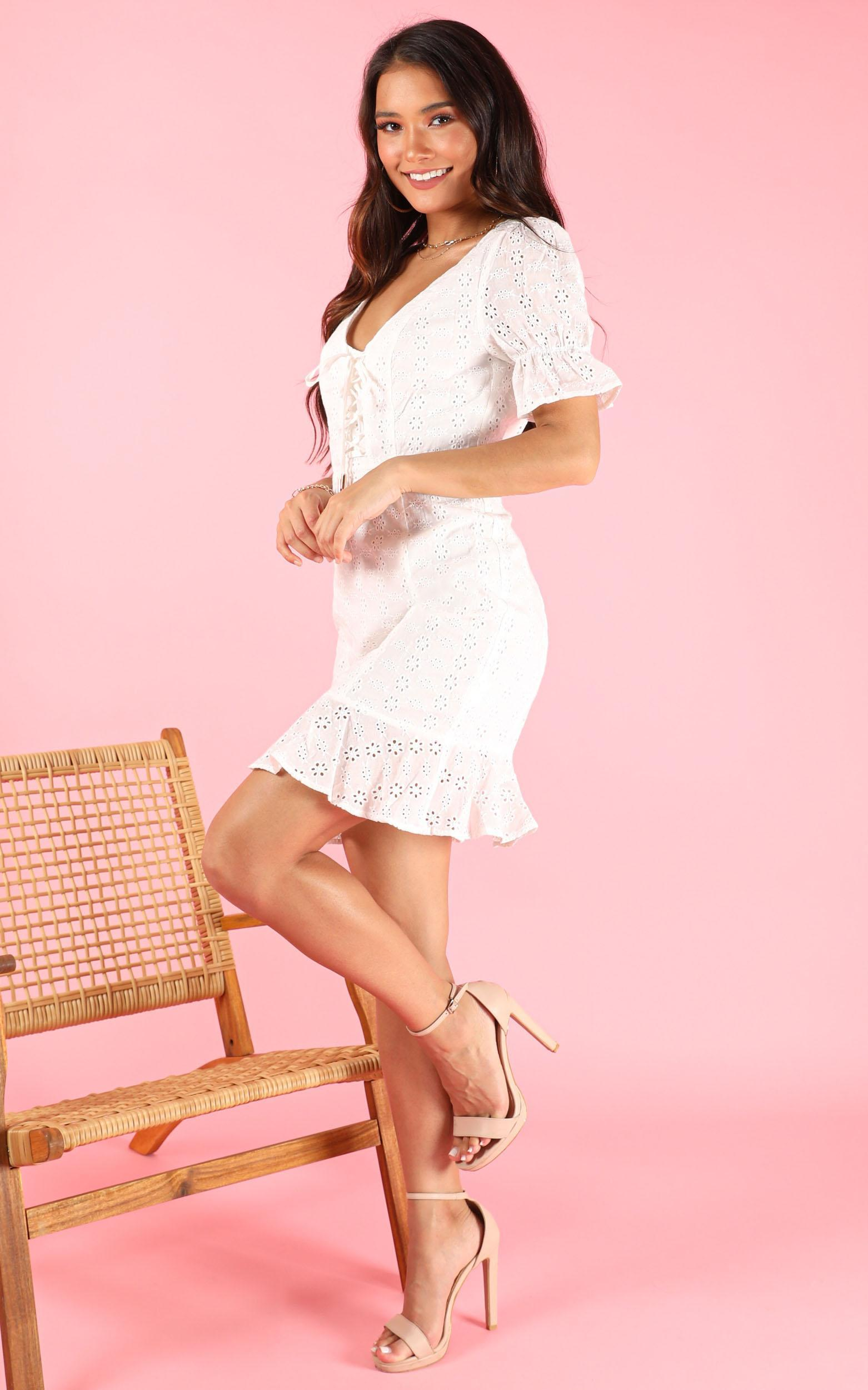 You Never Know dress in white lace - 12 (L), White, hi-res image number null
