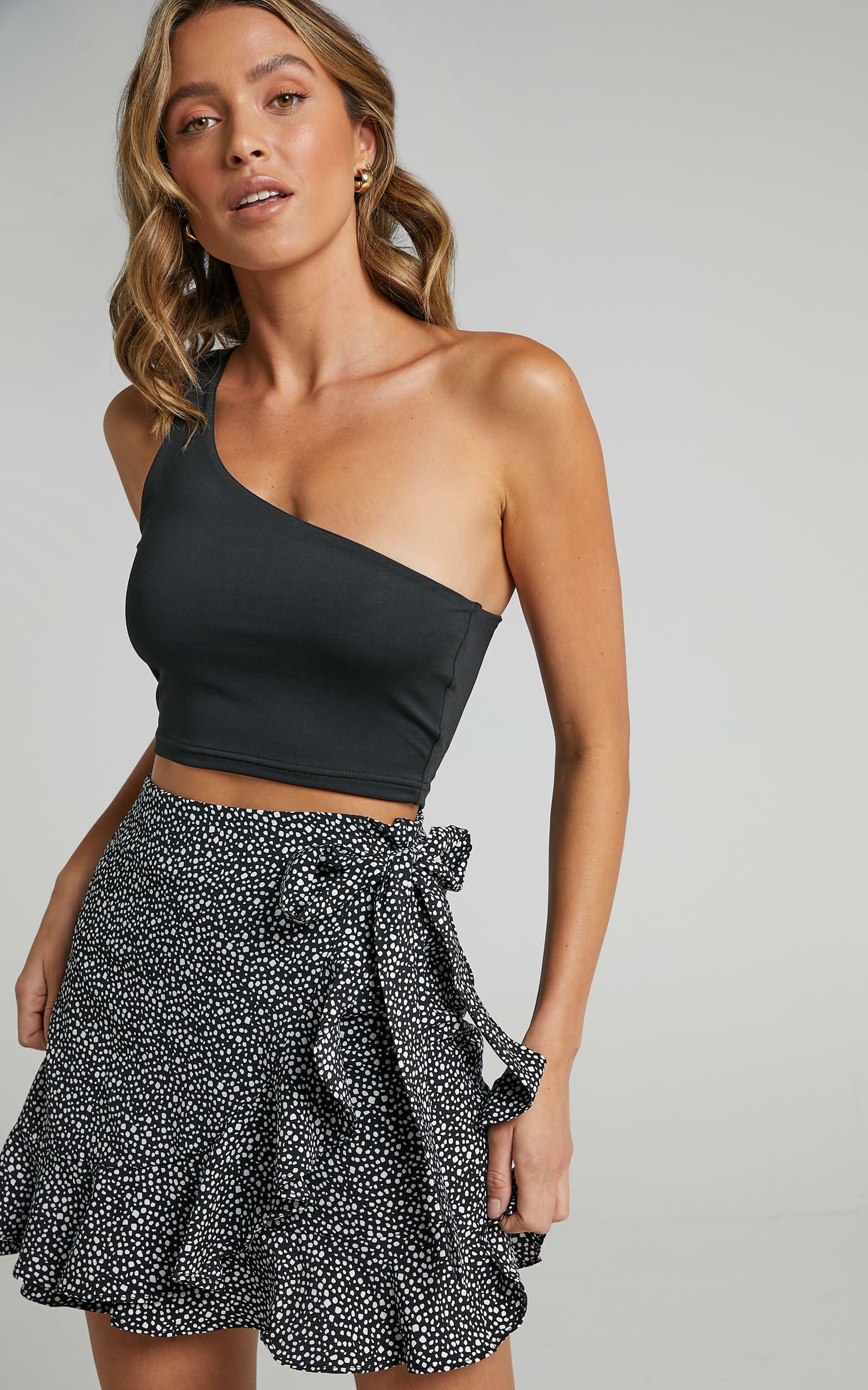 Big Change Skirt in Black Spot - 6 (XS), Black, hi-res image number null