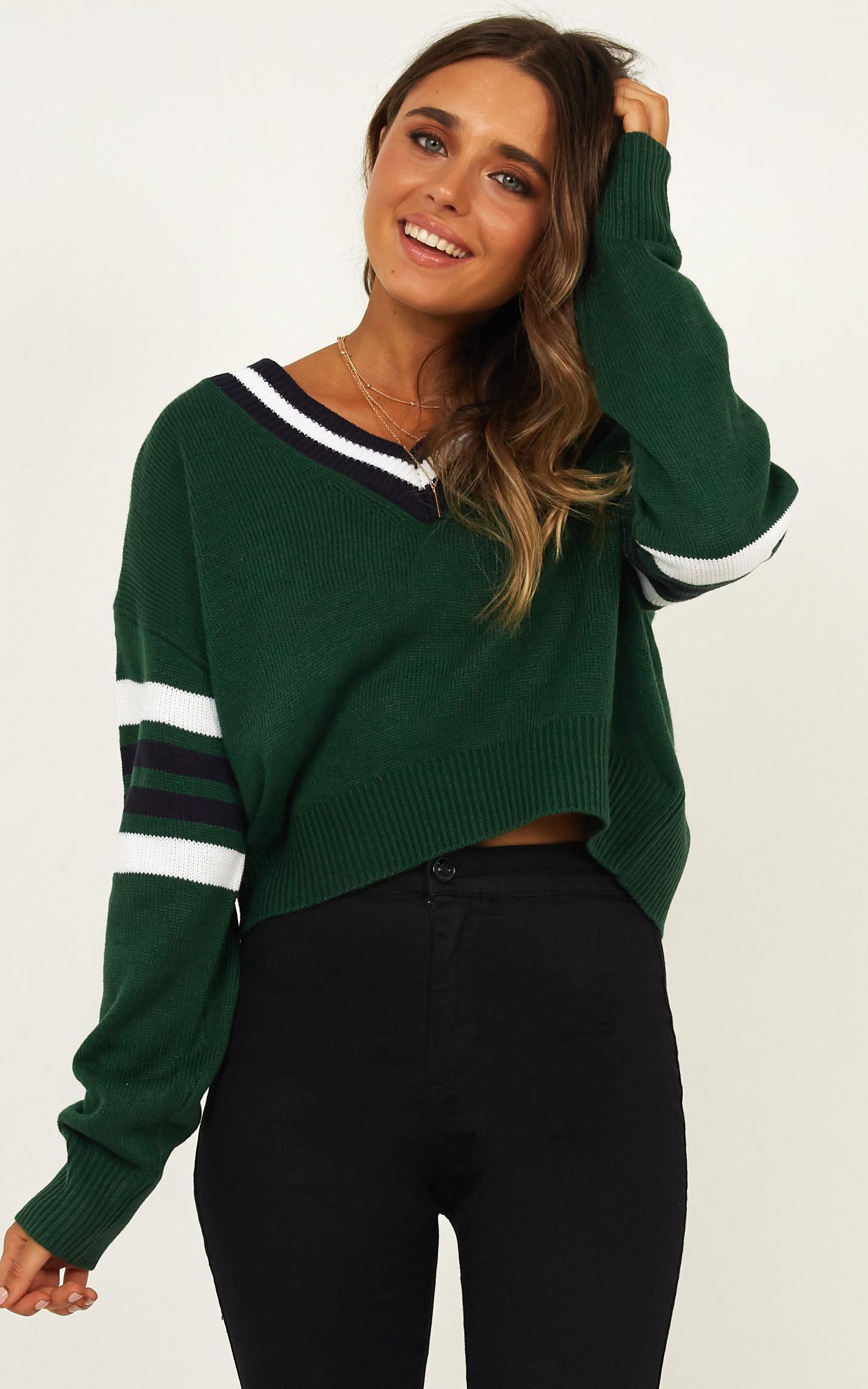 Rare Gem jumper in green stripe - 12 (L), Green, hi-res image number null
