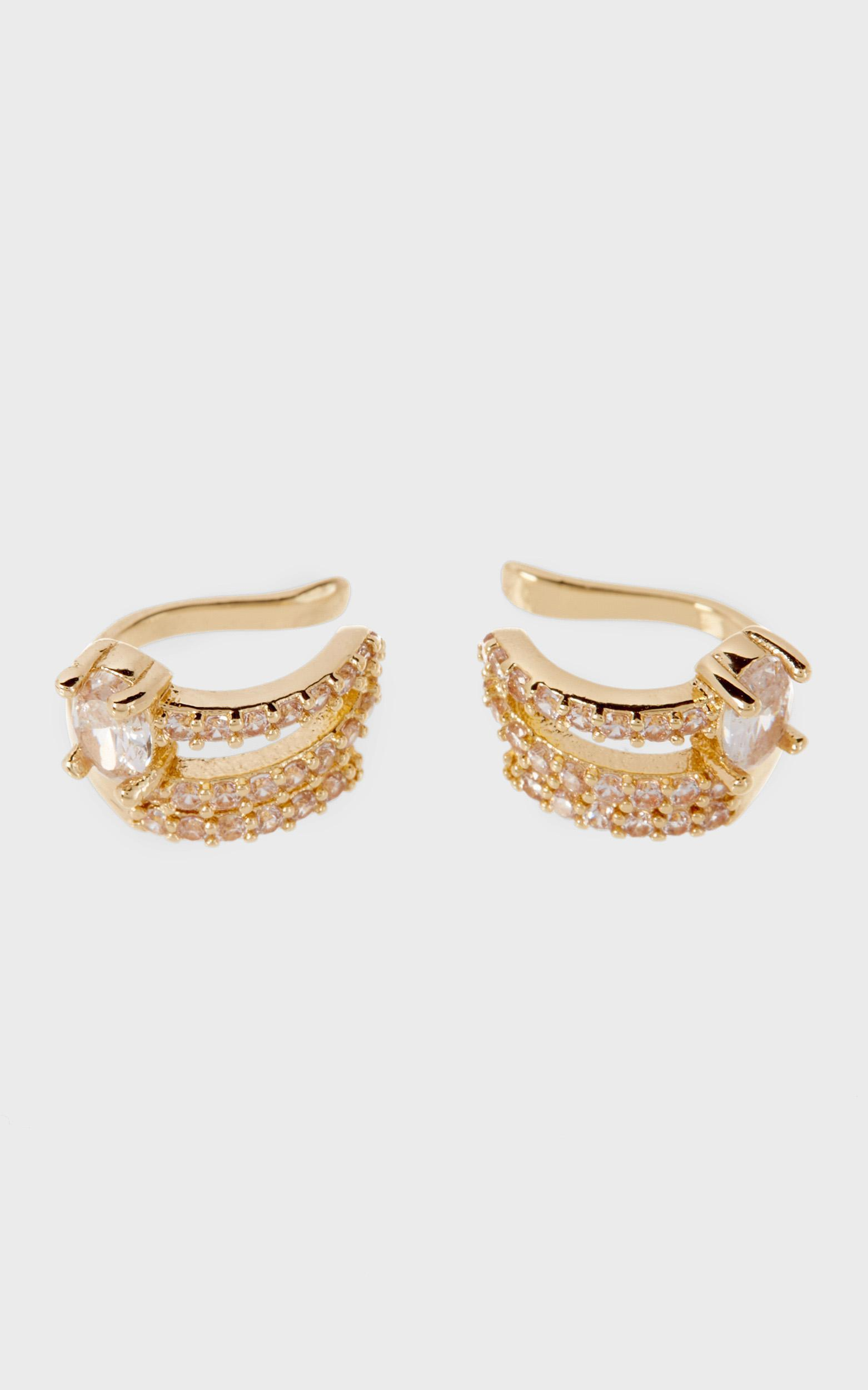 Luv Aj - The Ballier Ear Cuff in Gold, , hi-res image number null