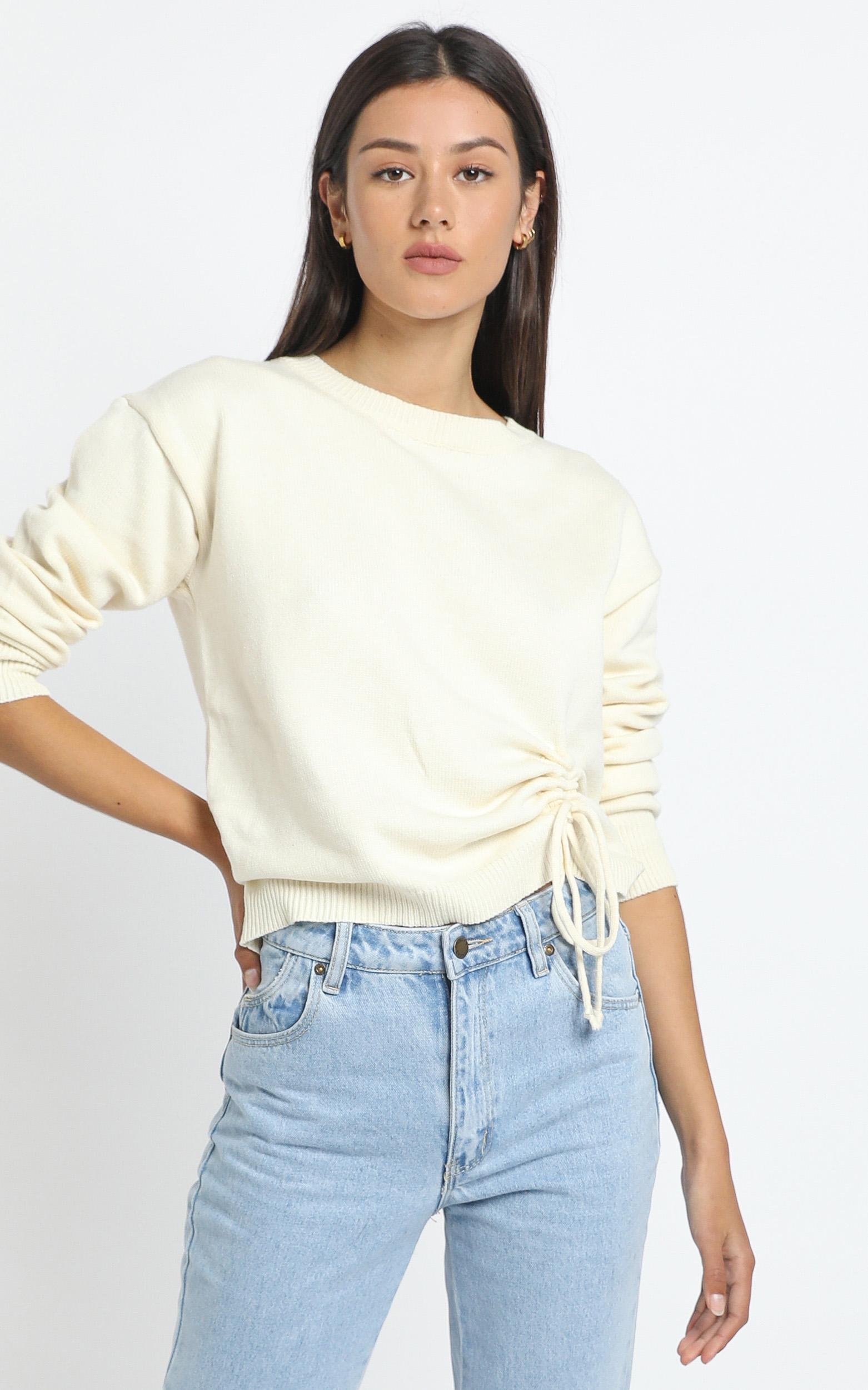 Carina Knit in White - L, White, hi-res image number null