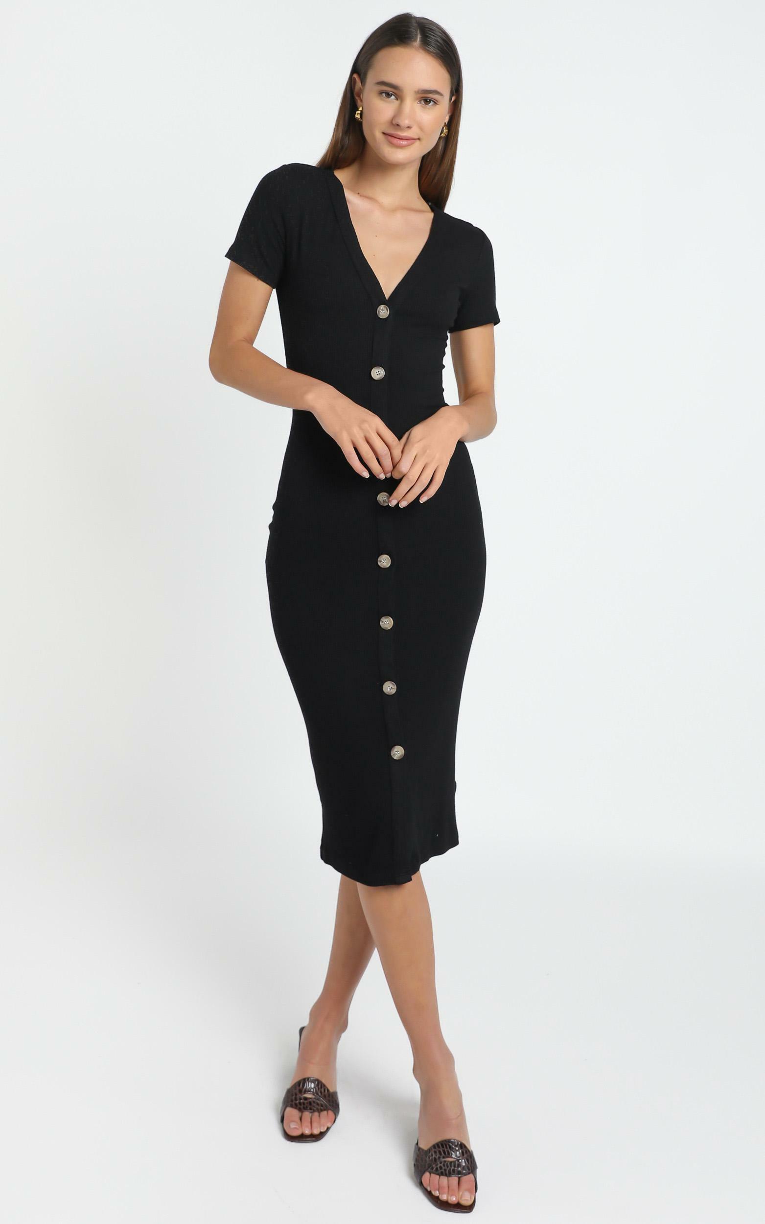 Derora Dress in Black - 12 (L), Black, hi-res image number null