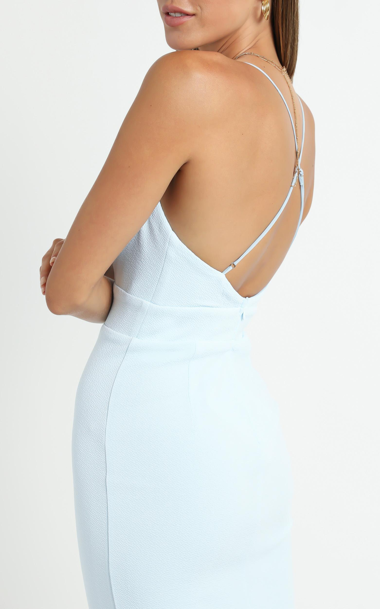 Lissa Midi Dress In Baby Blue - 6 (XS), BLU5, hi-res image number null