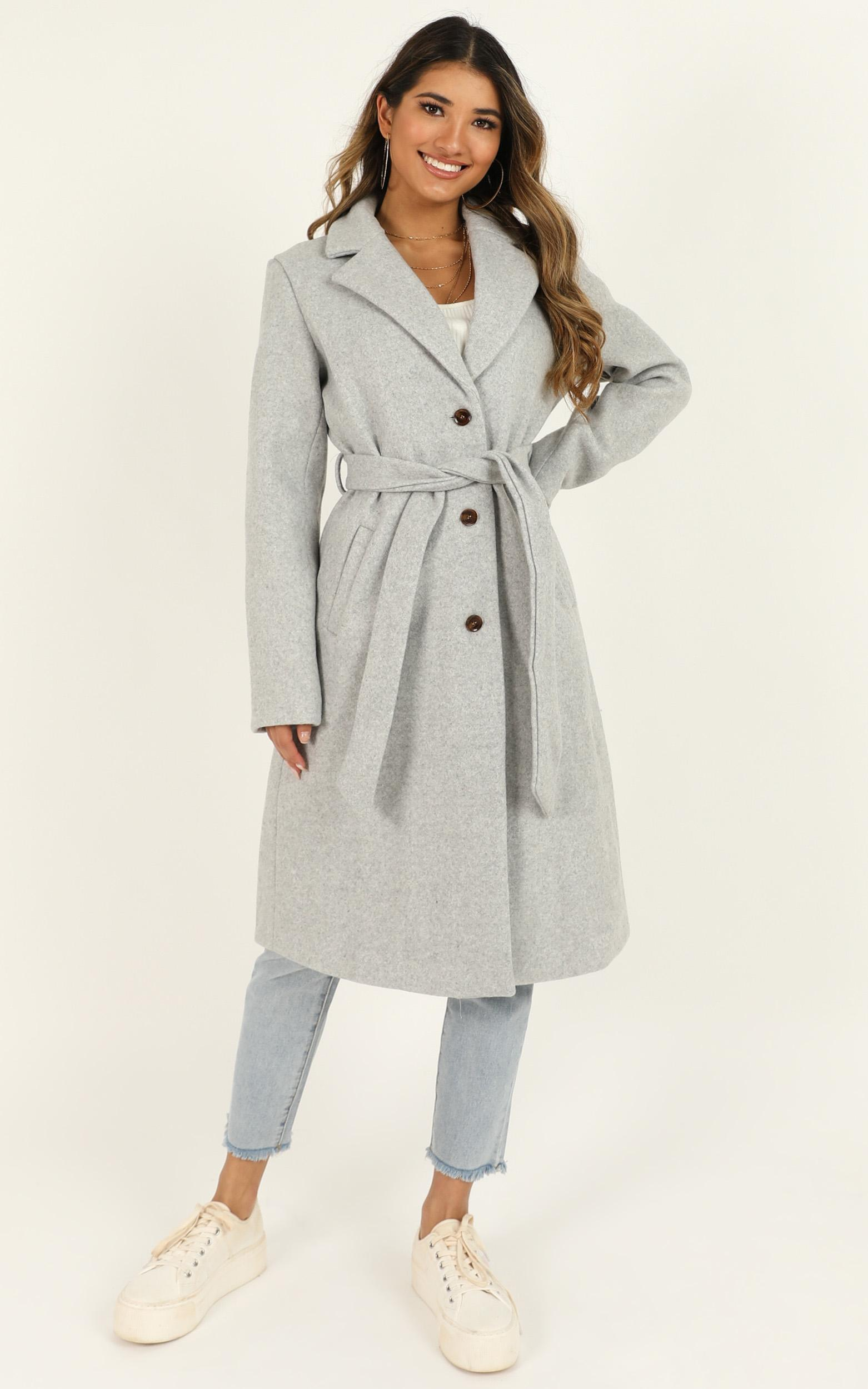 Back To The Big City Coat in grey - 20 (XXXXL), Grey, hi-res image number null
