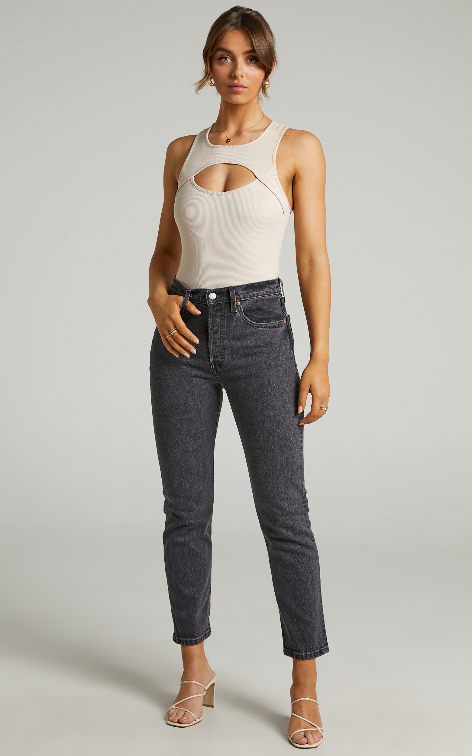 Levis - 501 Crop Jean in Cabo Fade - 06, BLK1, hi-res image number null
