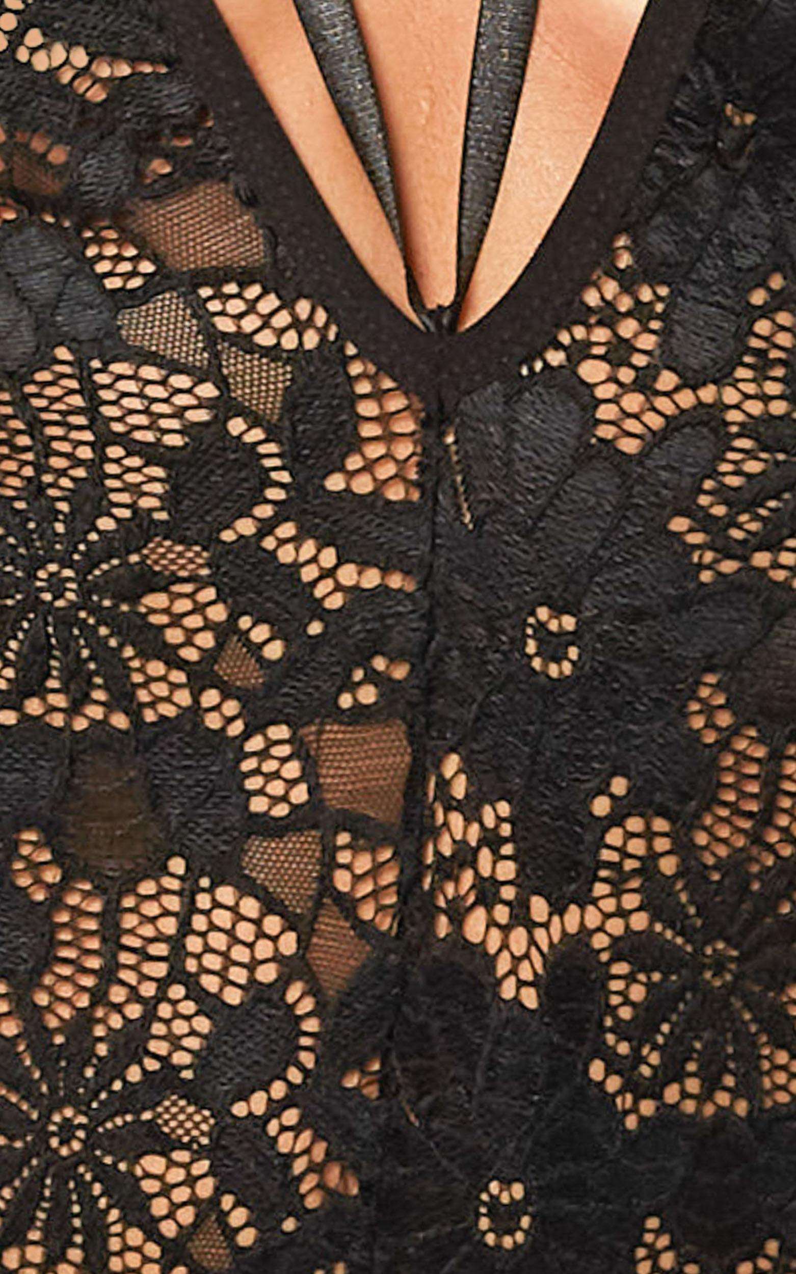 Common Truth Bodysuit in black lace - 20 (XXXXL), Black, hi-res image number null
