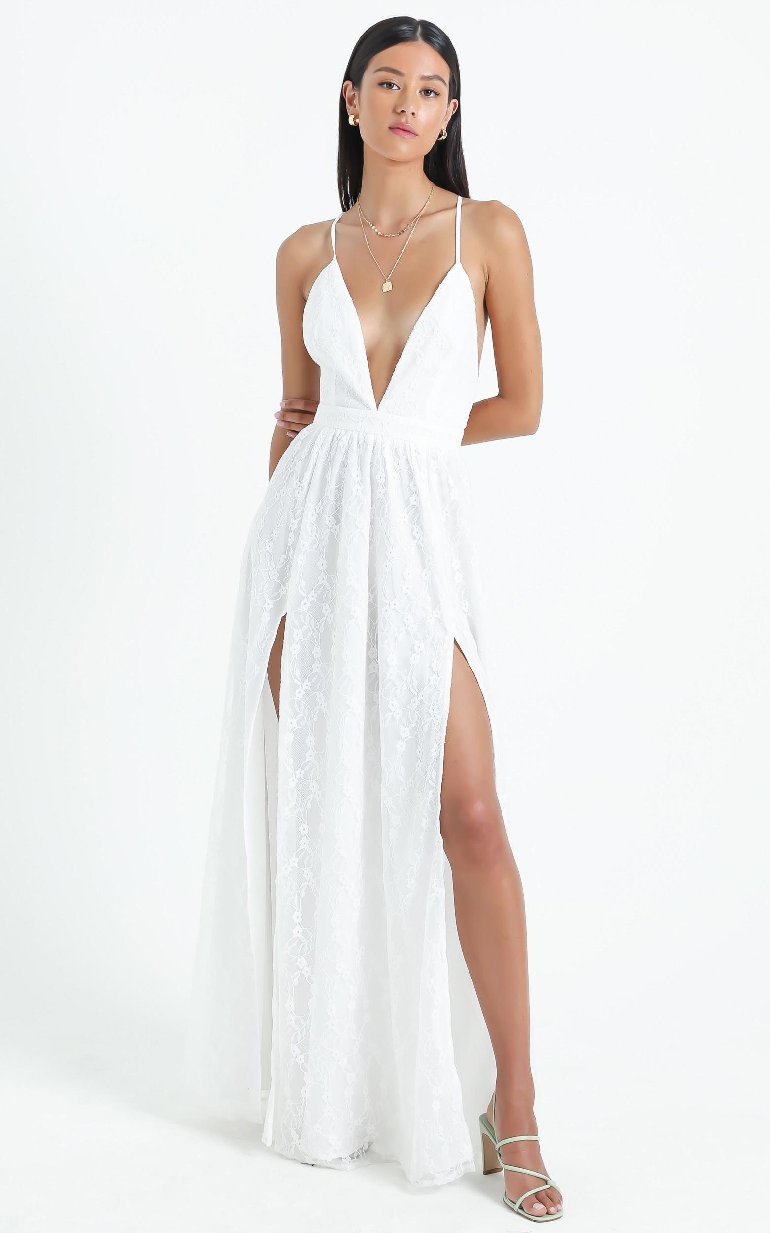 See Some Places Dress in White Lace - 4 (XXS), White, hi-res image number null
