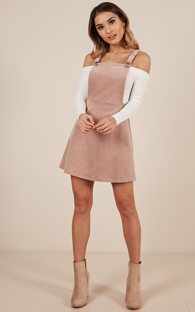 Thats What I Like Pinafore Dress In blush - 20 (XXXXL), Blush, hi-res image number null