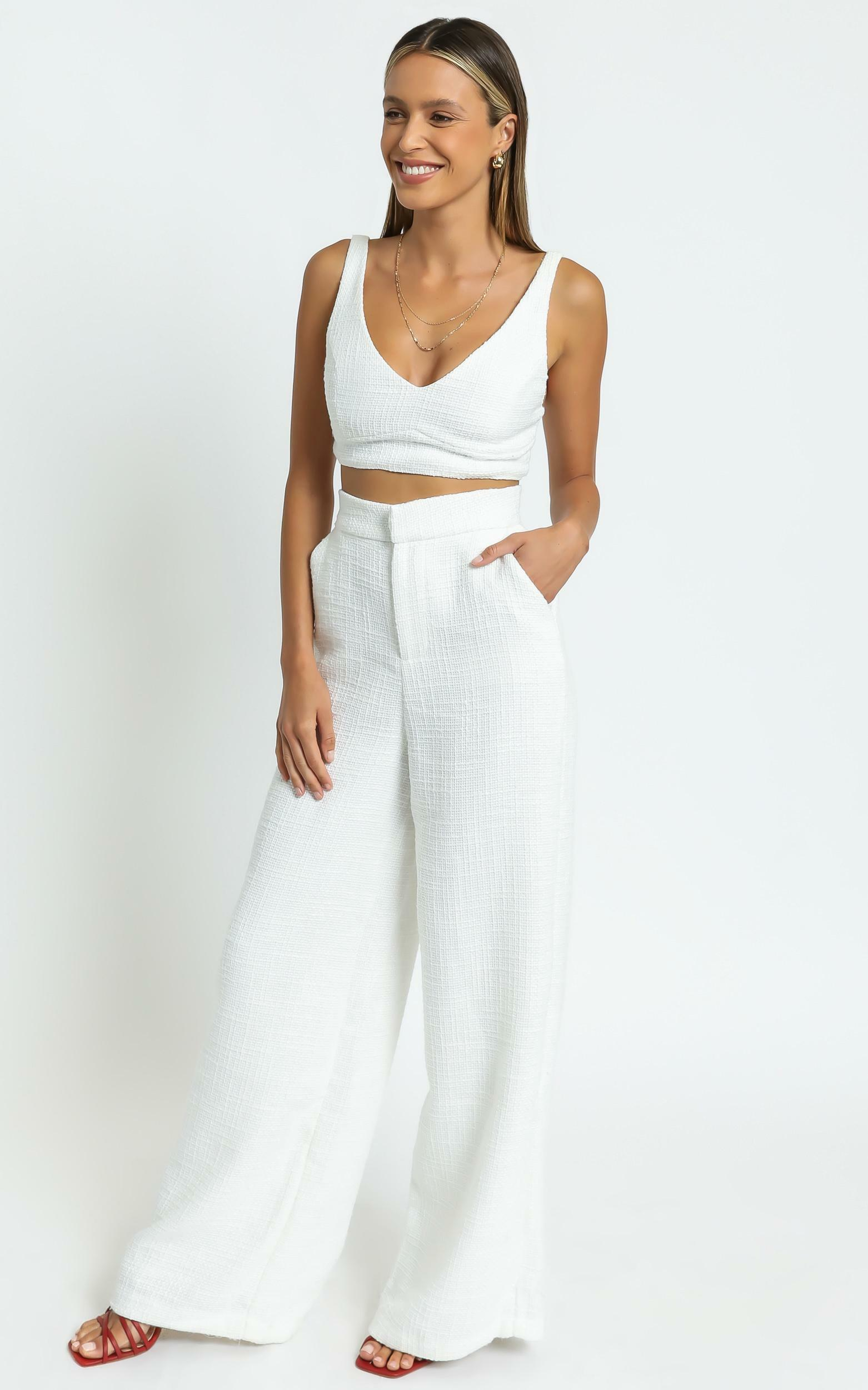Adelaide Two Piece Wide Leg Set in White - 06, WHT5, hi-res image number null
