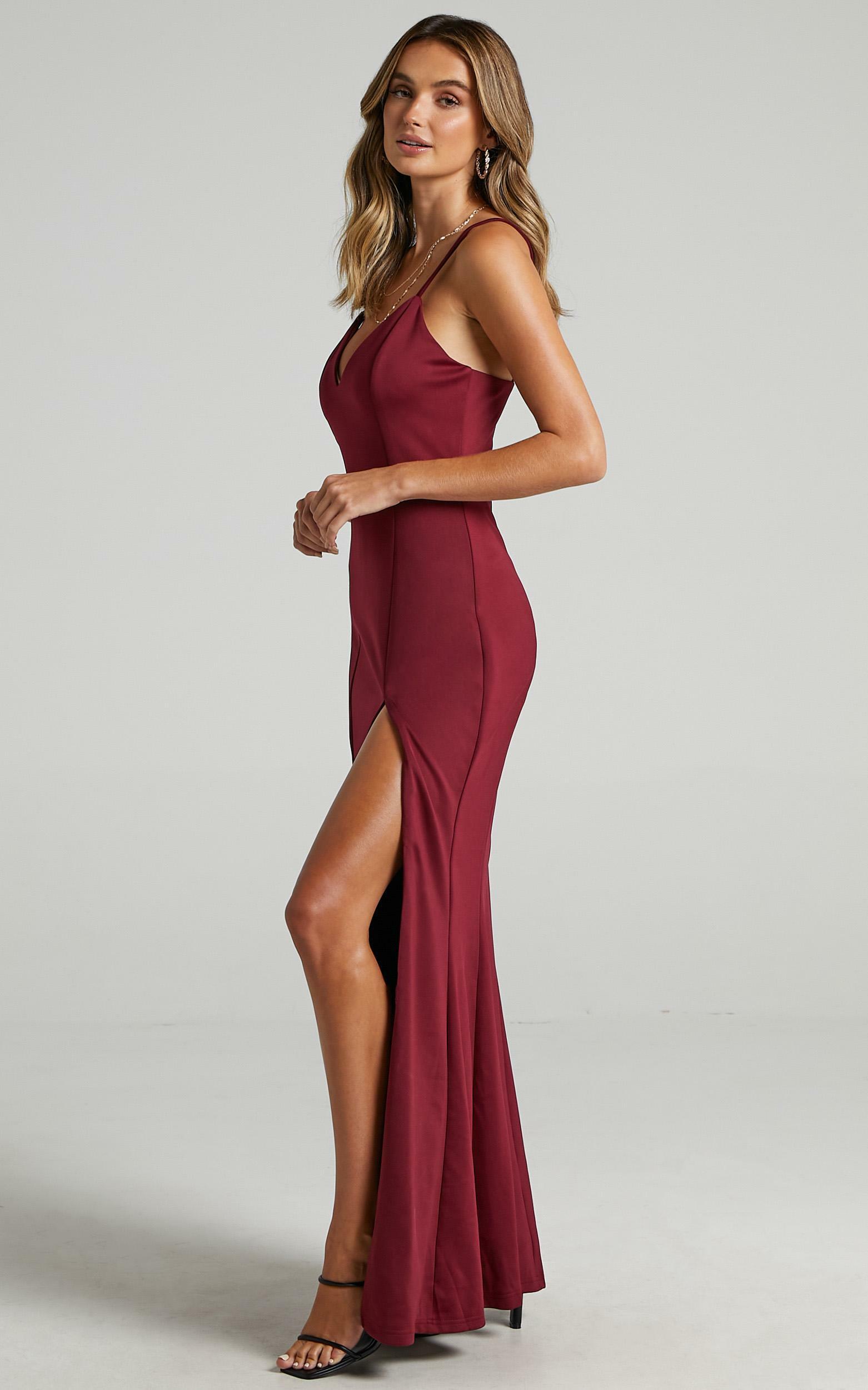 Dare To Dream Maxi Dress in Wine - 20 (XXXXL), Wine, hi-res image number null