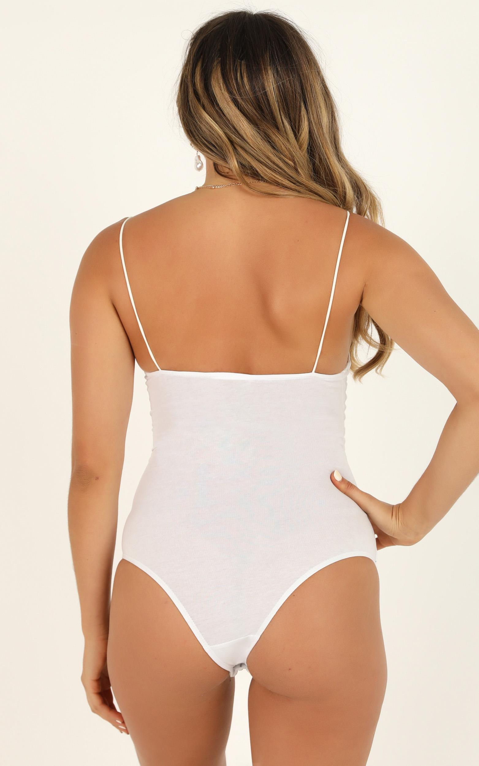 Stitched You Up bodysuit in white  - 20 (XXXXL), White, hi-res image number null