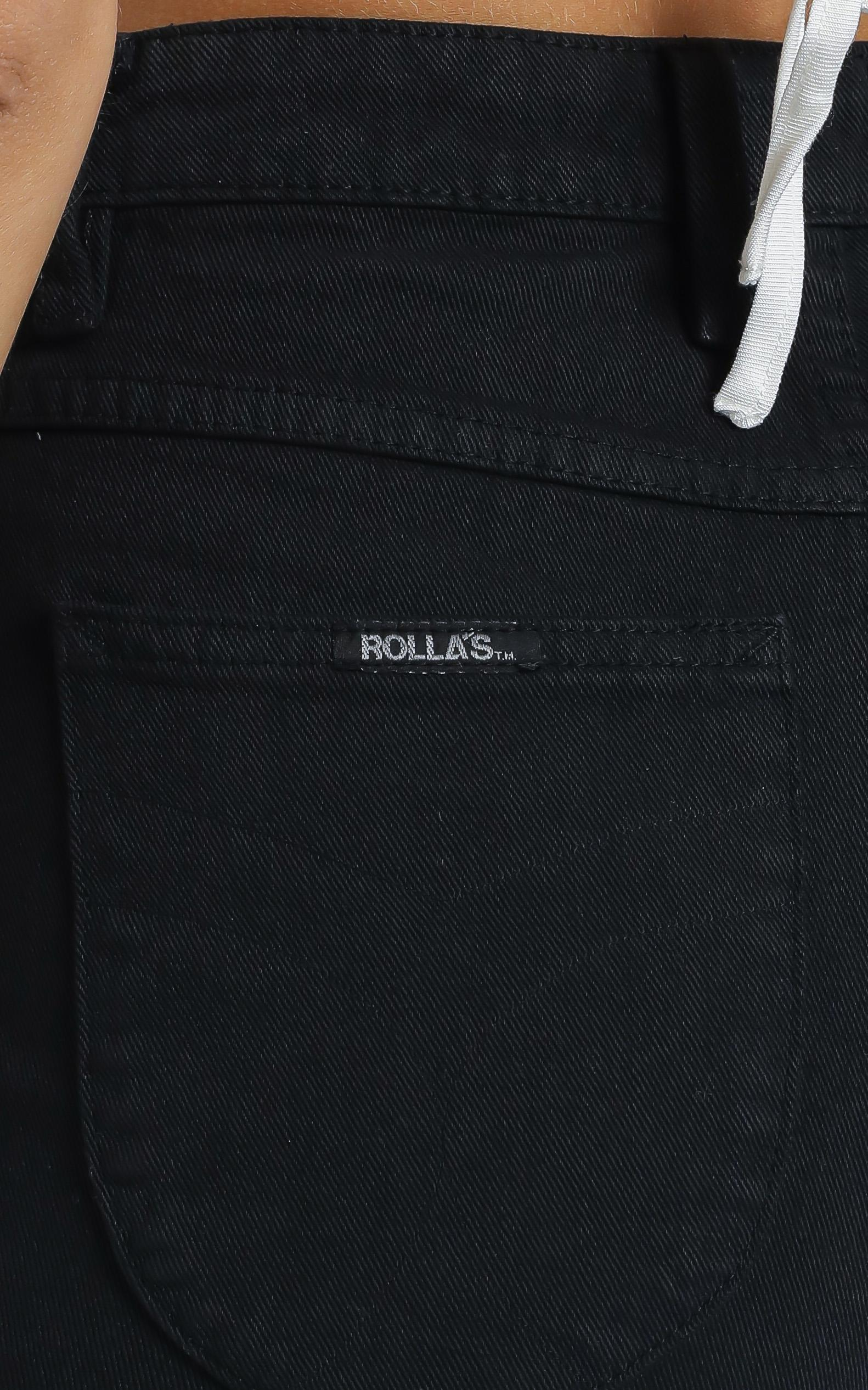 Rollas - Dusters Denim Shorts in Black Dust - 12 (L), BLK1, hi-res image number null