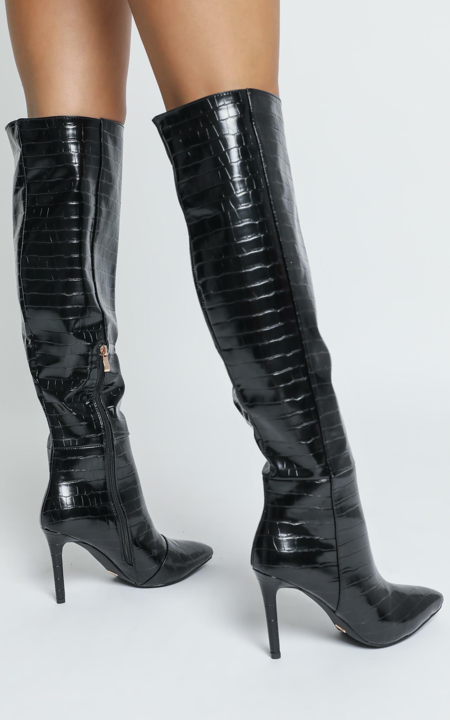 Billini - Naveen Boots in black croc - 5, BLK8, hi-res image number null