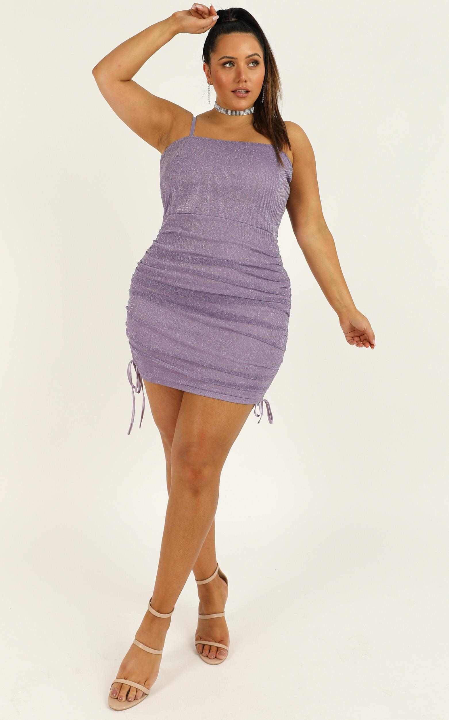 Time Stands Still Dress In lilac mesh lurex - 20 (XXXXL), Purple, hi-res image number null