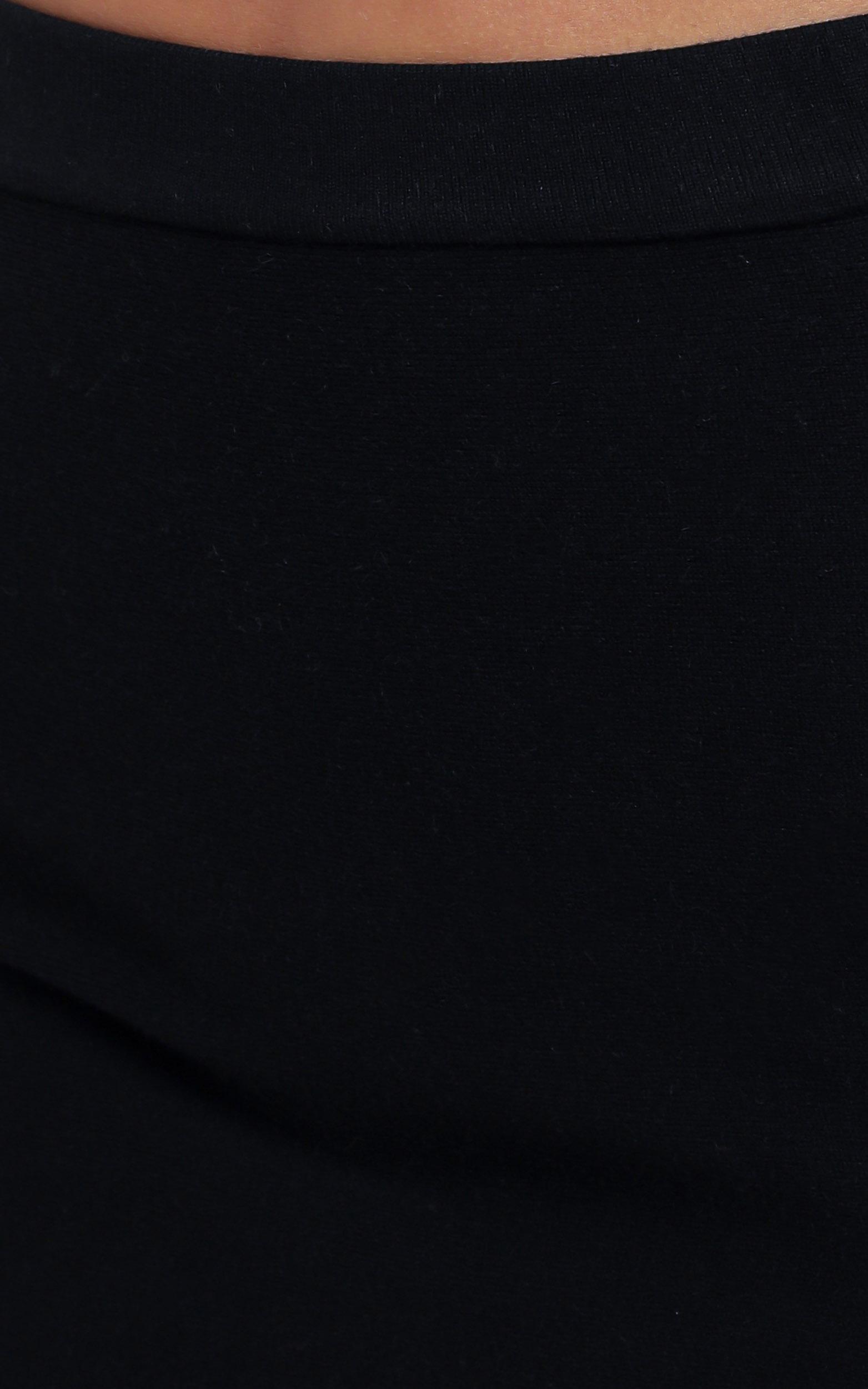 Kiley Knit Skirt in Black - 12 (L), Black, hi-res image number null