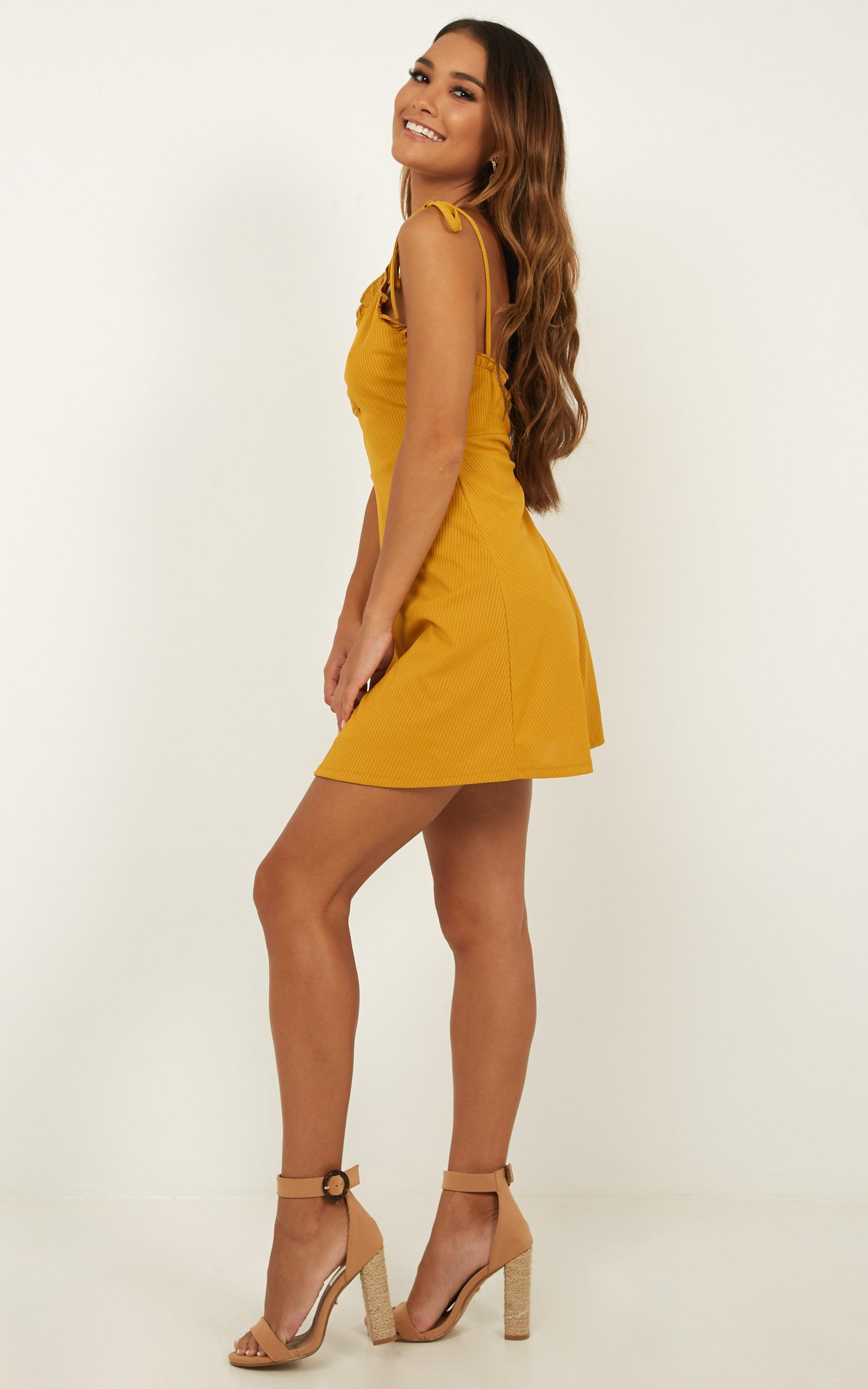 Bring It Out Dress In mustard - 18 (XXXL), Mustard, hi-res image number null