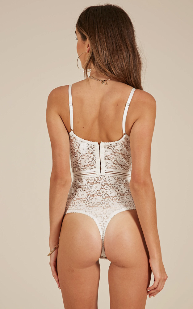 Emotions bodysuit in white lace - 12 (L), White, hi-res image number null