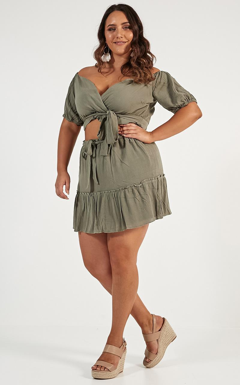 I Want You Back Two Piece Set in khaki - 12 (L), Khaki, hi-res image number null