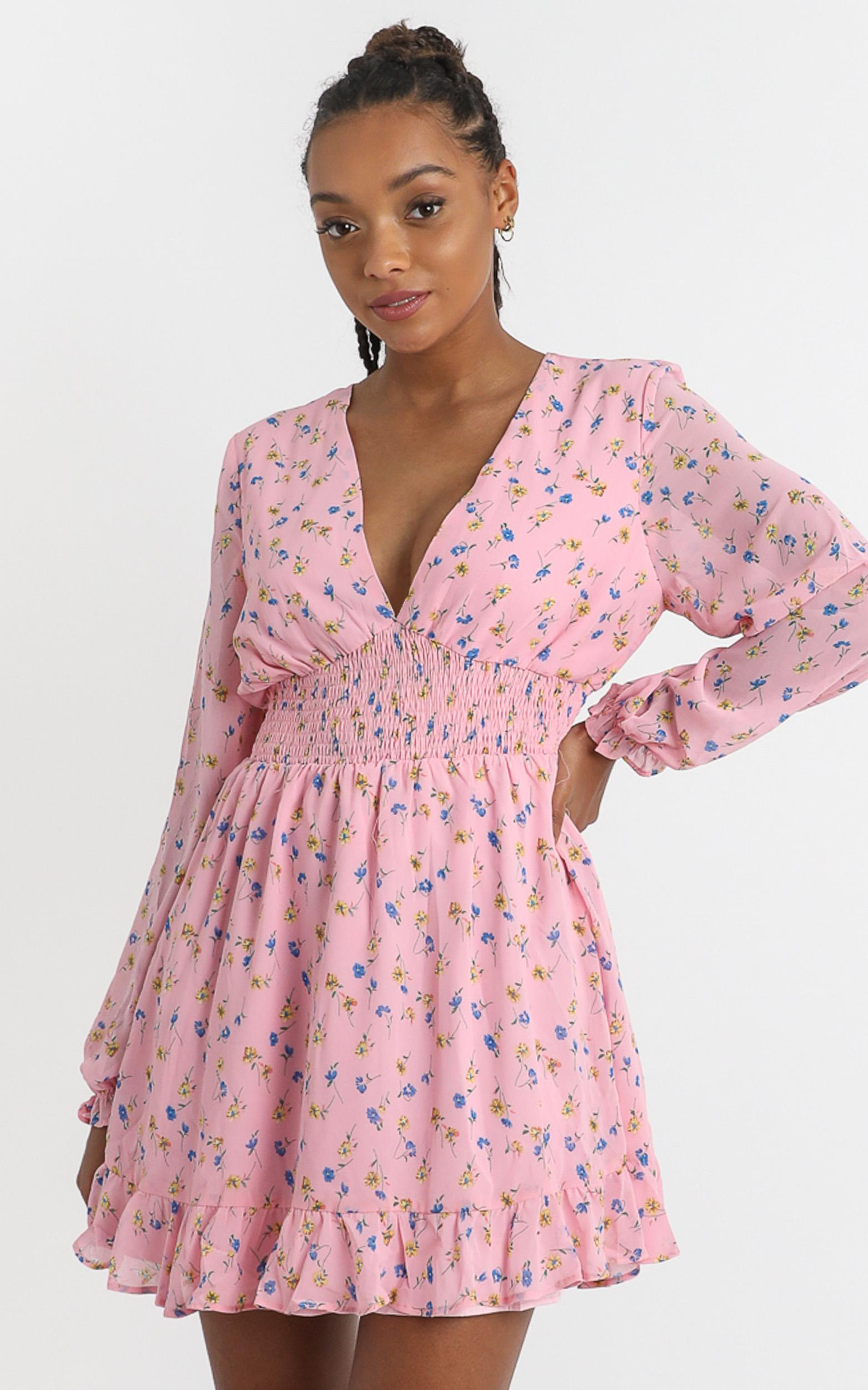 Pretty As You Dress in pink floral - 4 (XXS), Pink, hi-res image number null