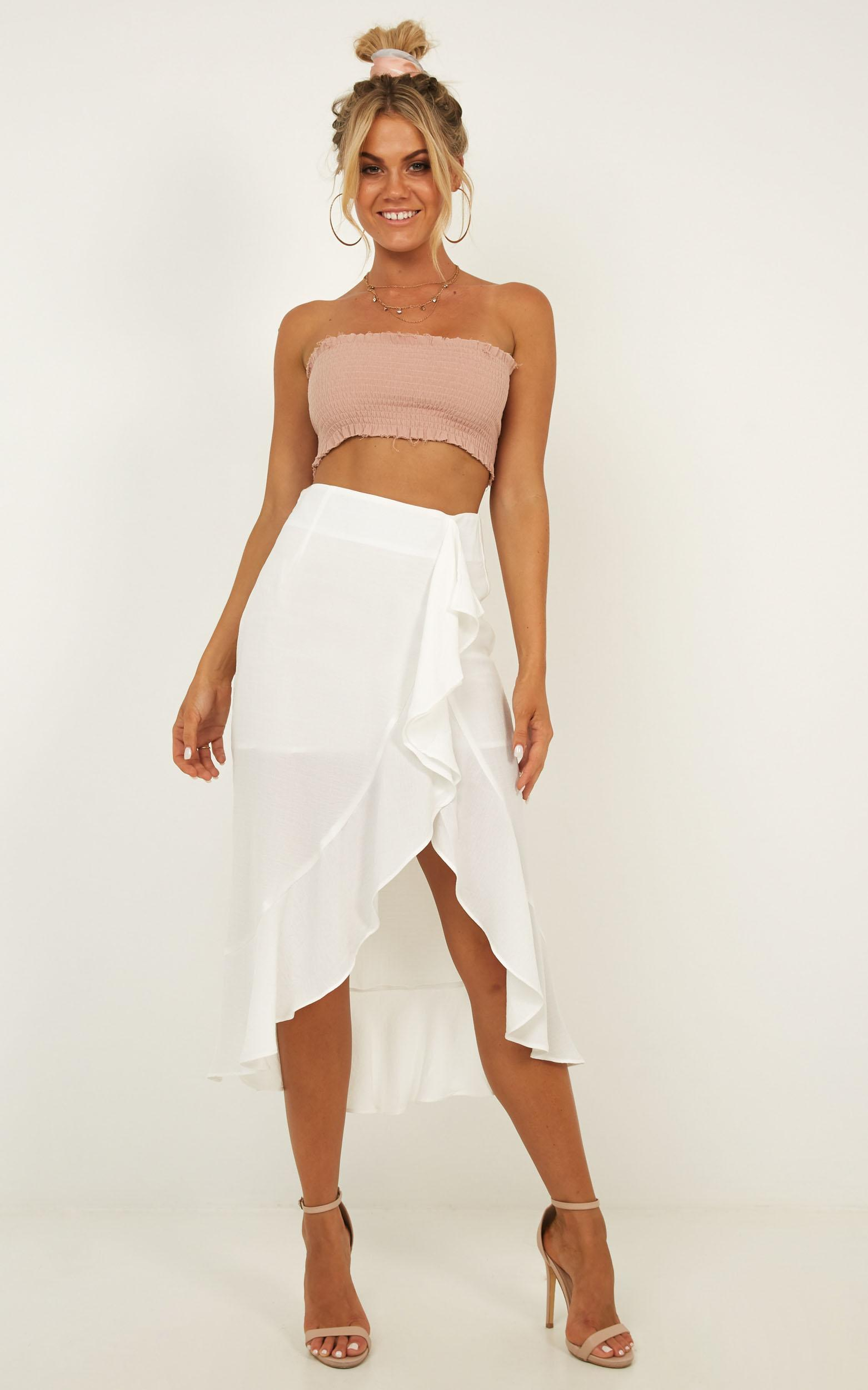 There She Goes Again skirt in white - 14 (XL), White, hi-res image number null