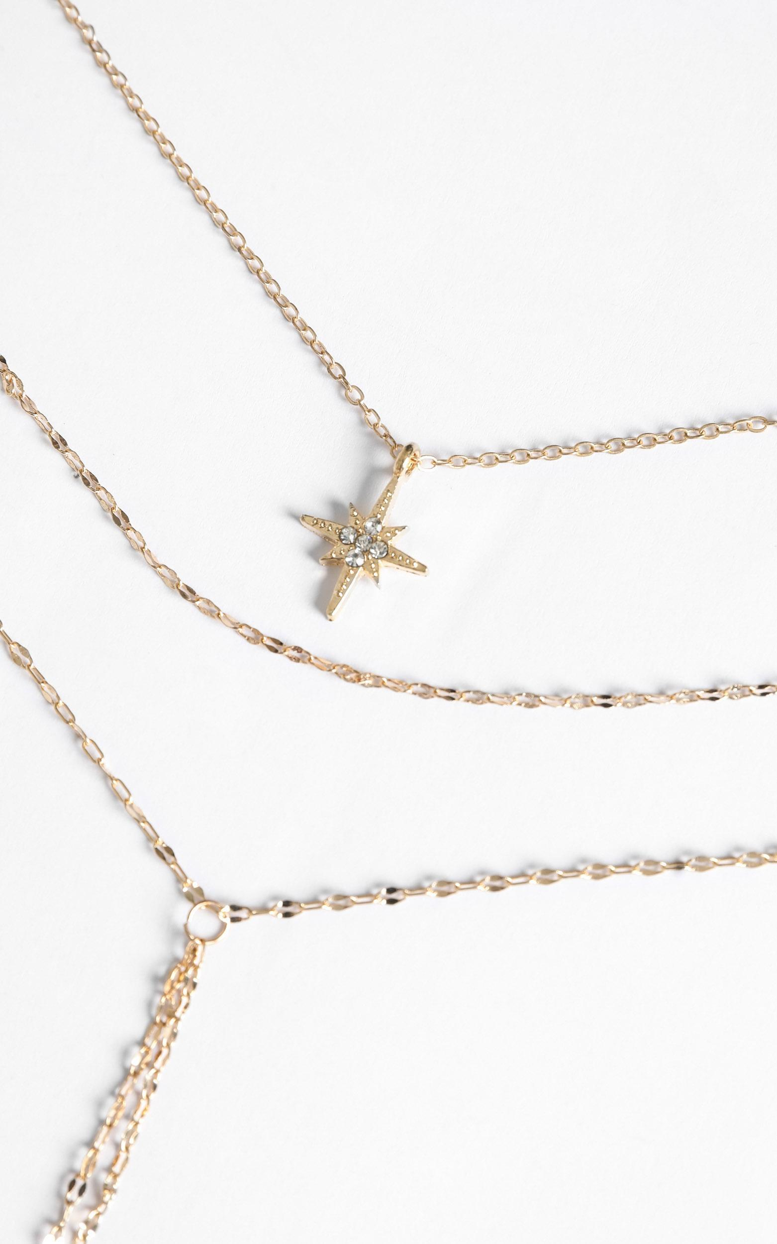 Larissa Layered Necklace in Gold, , hi-res image number null
