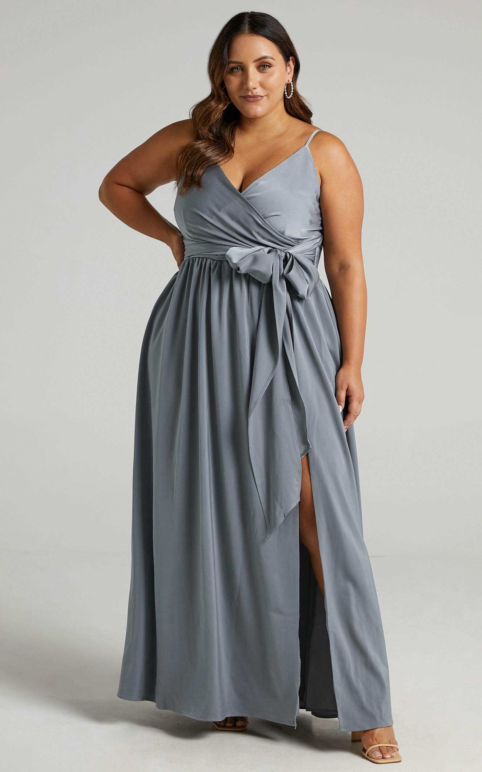 Revolve Around Me Dress in Dusty Blue - 20, BLU2, hi-res image number null
