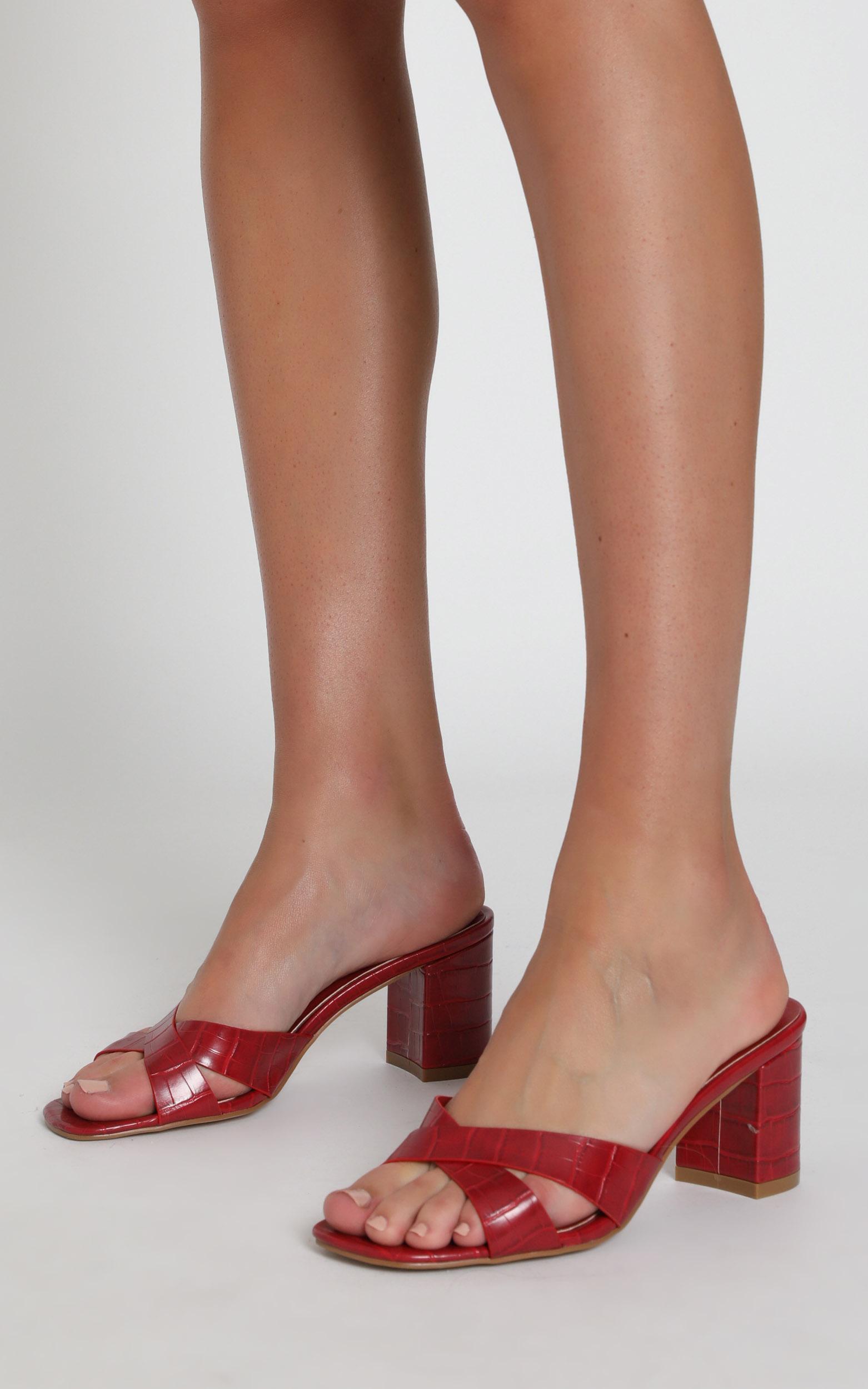 Billini - Yowie heels in red croc - 5, Red, hi-res image number null