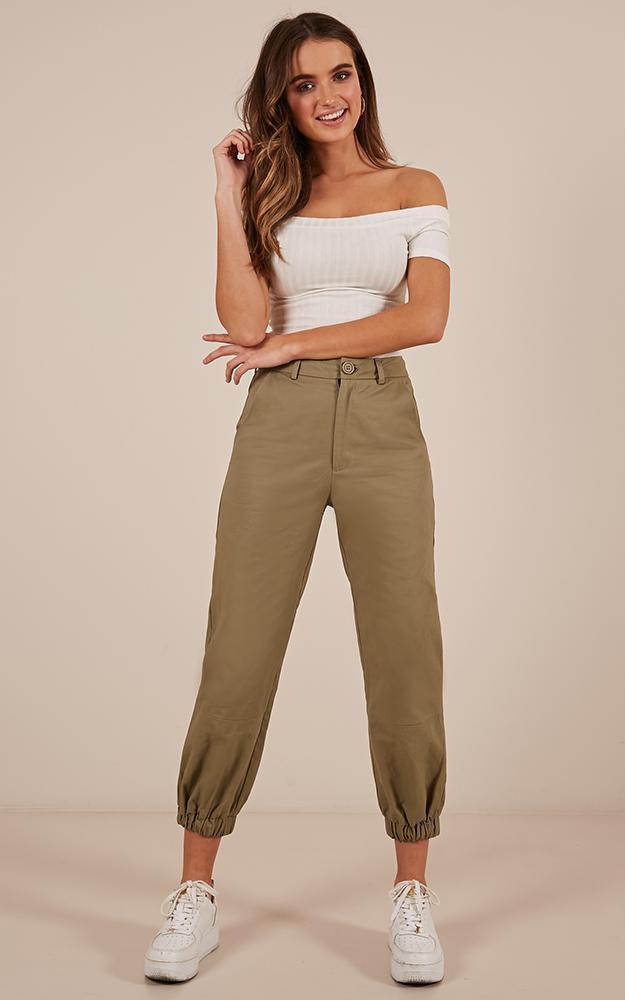 You Got It Girl Pants in khaki - 12 (L), Khaki, hi-res image number null