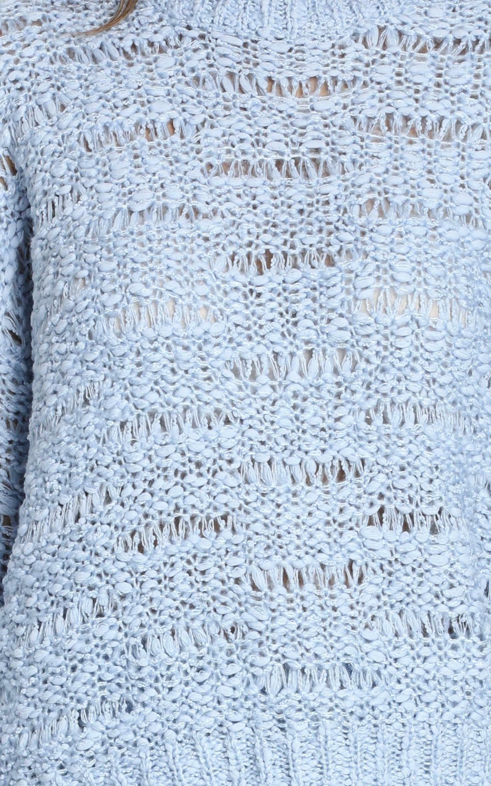 Margie Textured Knit Jumper in blue - S/M, Blue, hi-res image number null