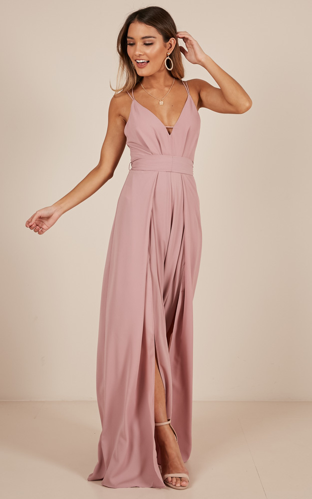 The Way I Am Jumpsuit in blush - 6 (XS), Blush, hi-res image number null