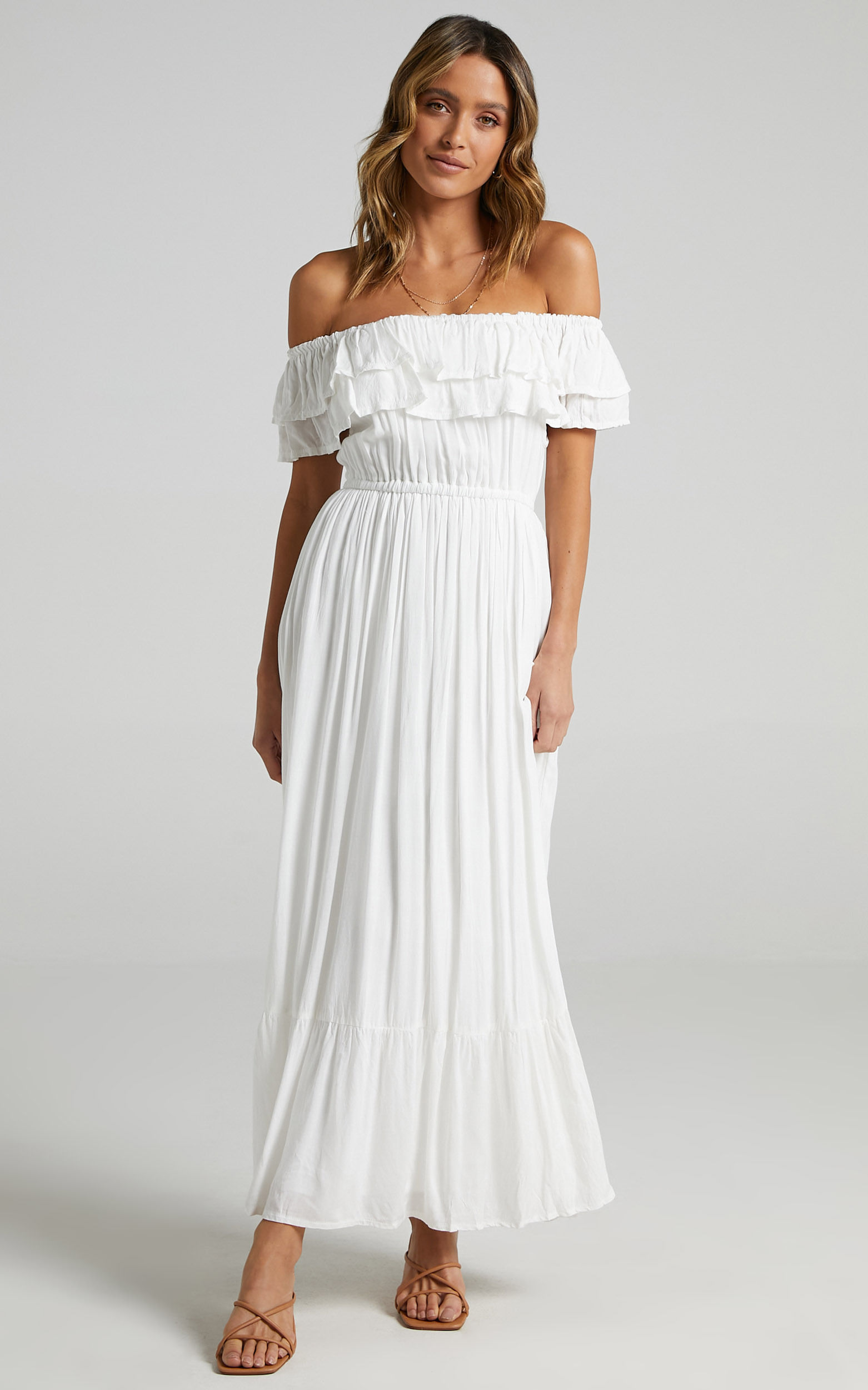 Notre Dame Maxi Dress in White - 08, WHT6, hi-res image number null