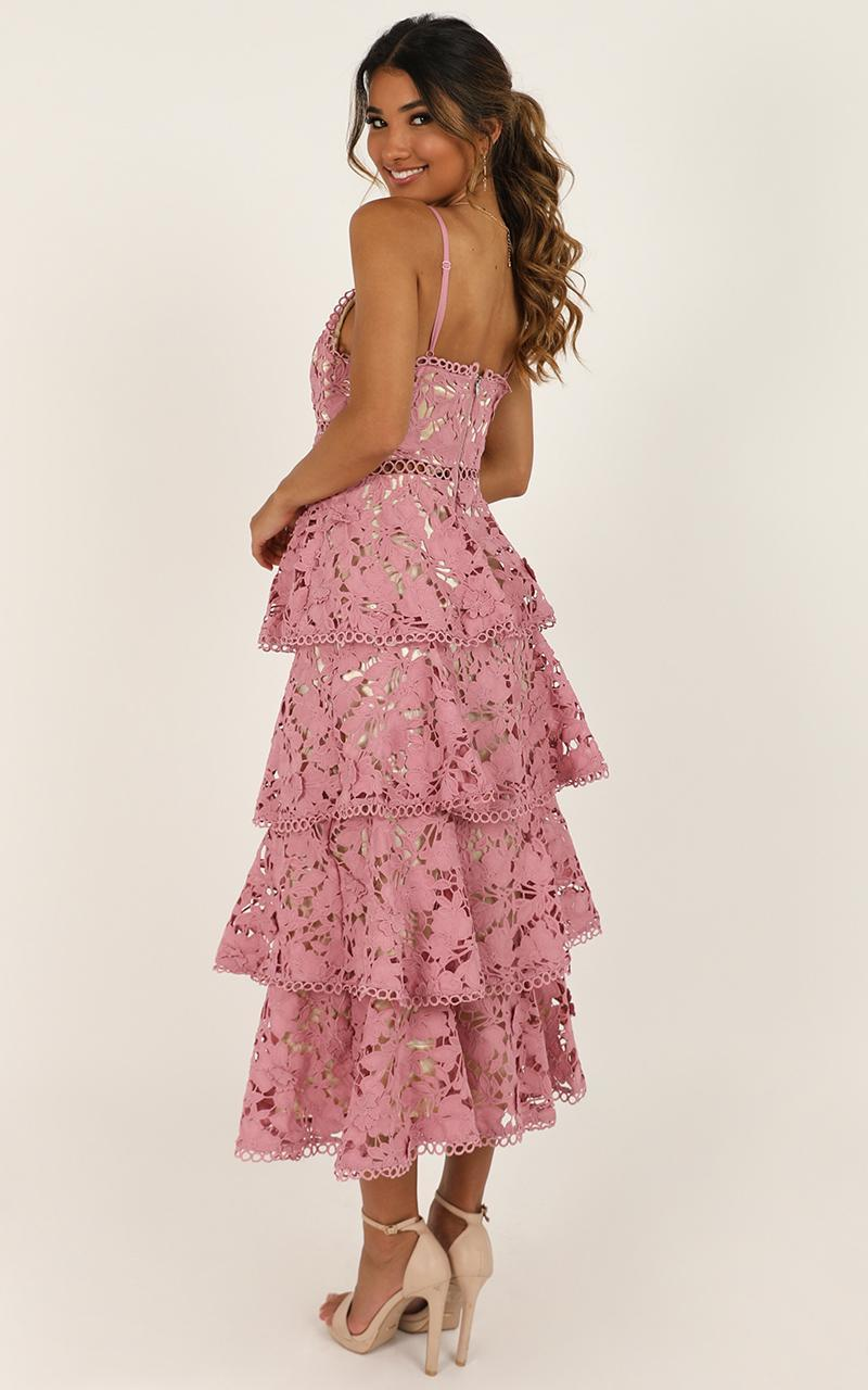 In Other News Dress In Mauve Lace - 14 (XL), Mauve, hi-res image number null