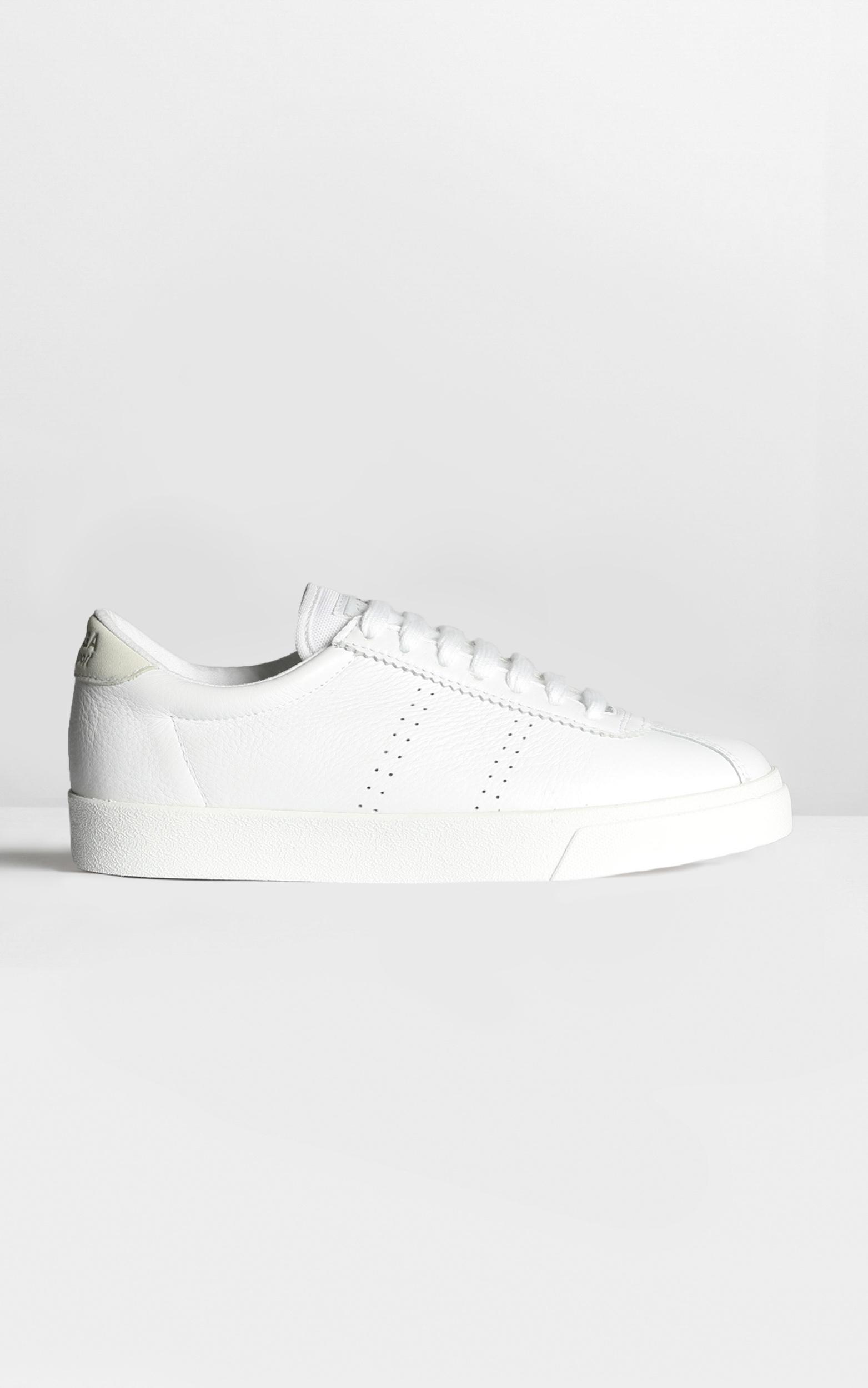 Superga - 2843 Clubs Comfleau in white leather - 9, White, hi-res image number null