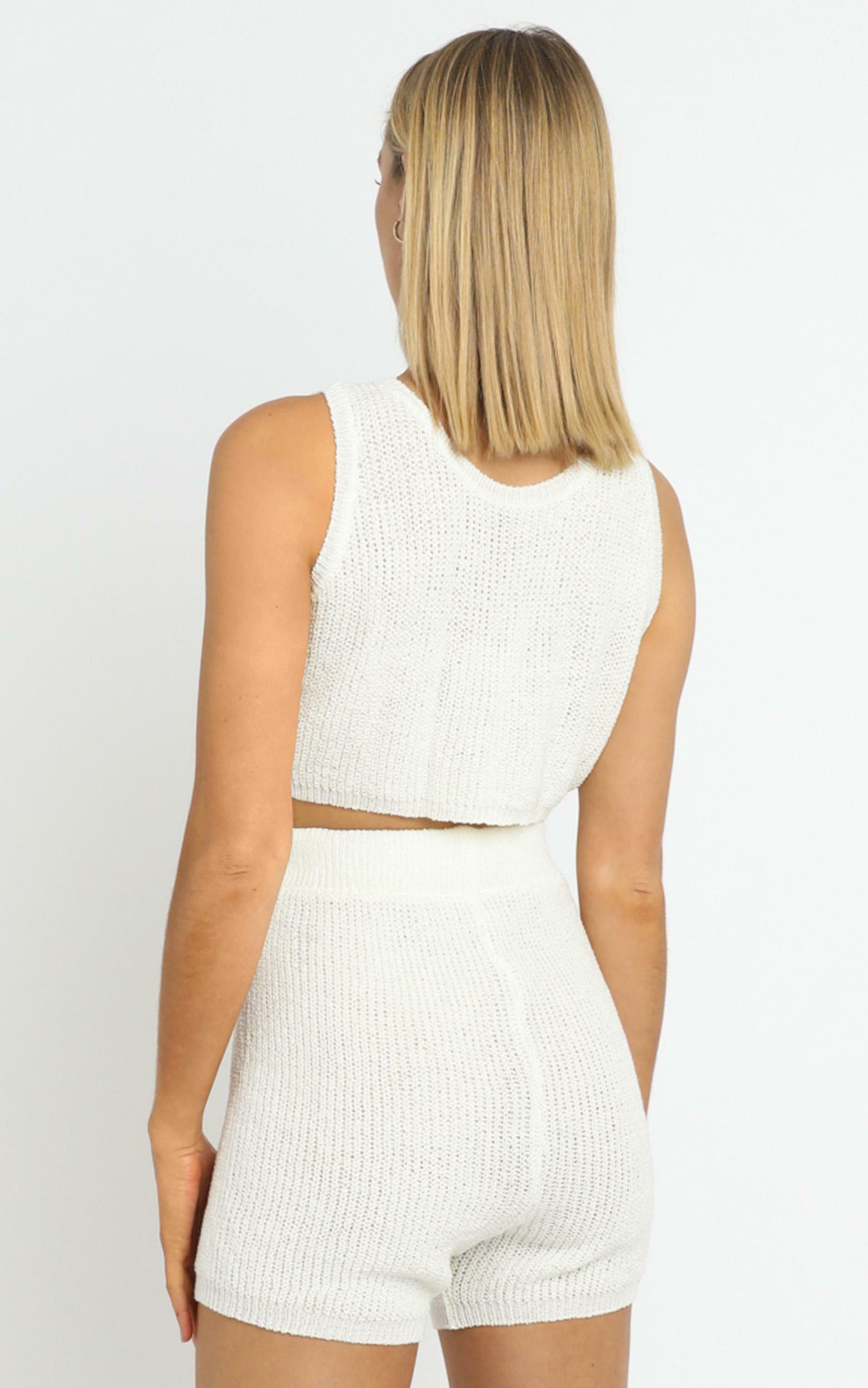 Saffron Knit Three Piece Set White - L/XL, White, hi-res image number null