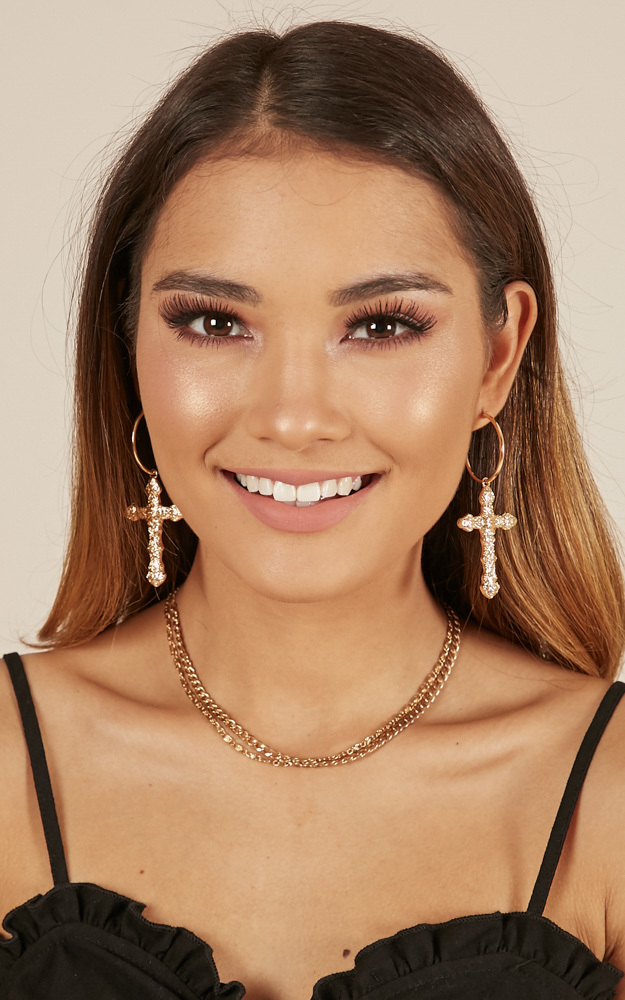 Dont Rush earrings in gold, , hi-res image number null