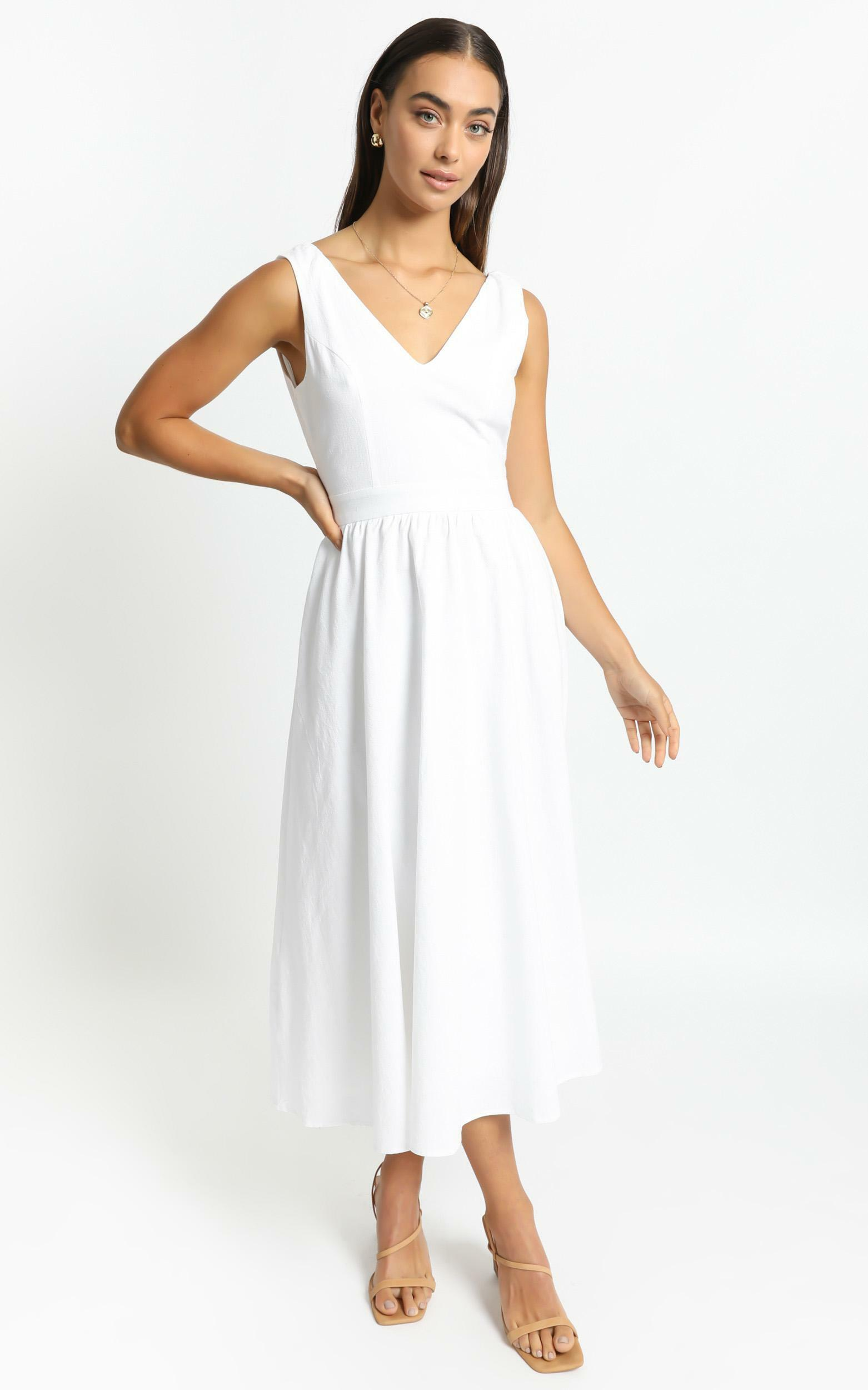 Carrington Dress in White - 6 (XS), White, hi-res image number null