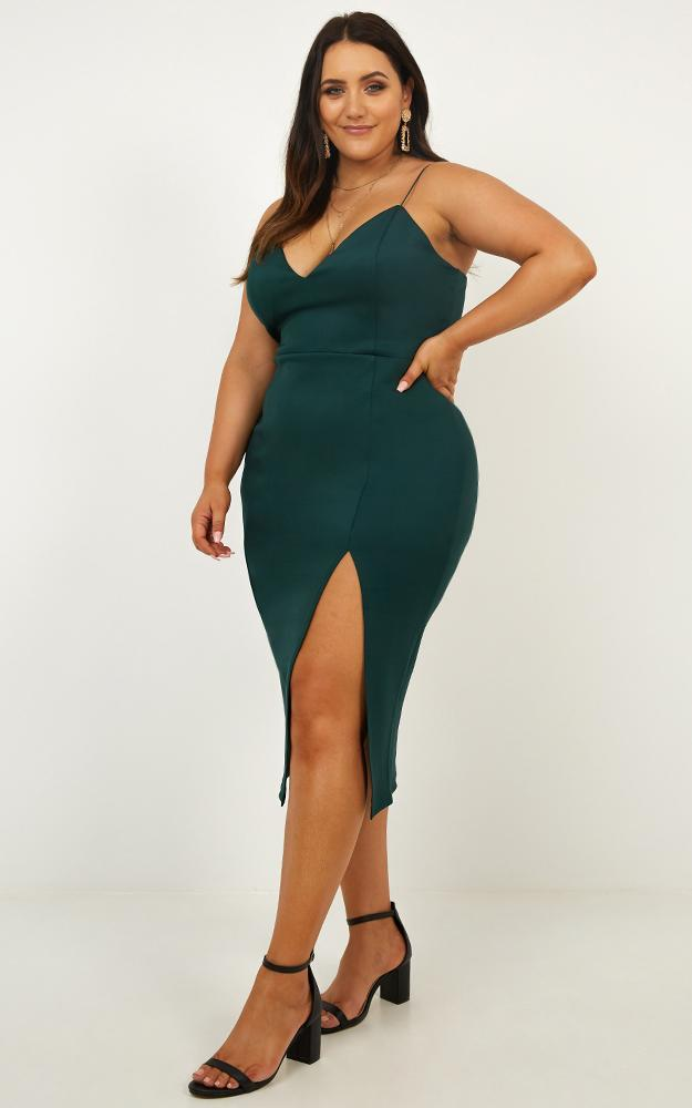 Big Ideas Dress In Emerald - 4 (XXS), Green, hi-res image number null