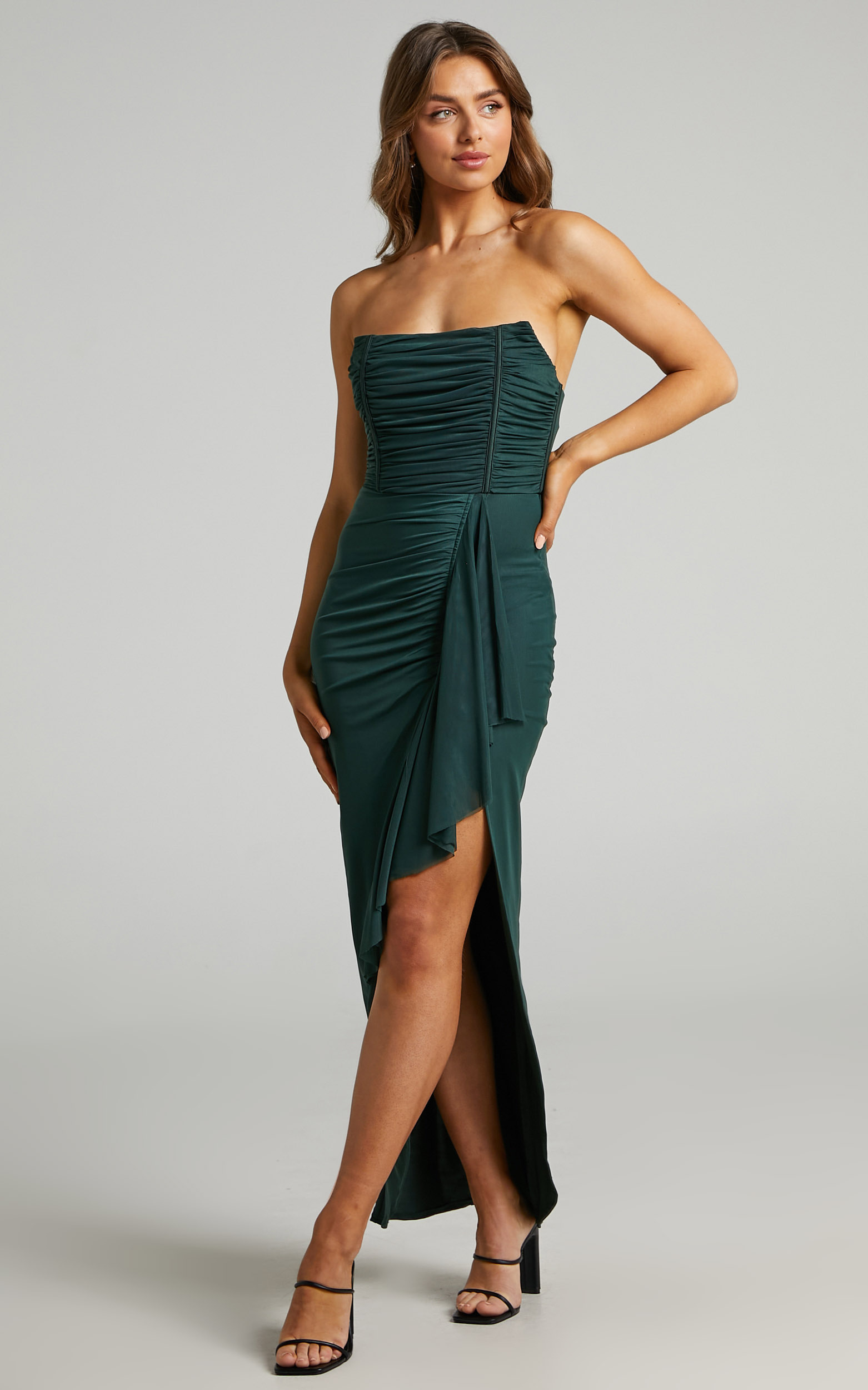 Nora Corset Detailing Dress in Emerald - 04, GRN1, hi-res image number null