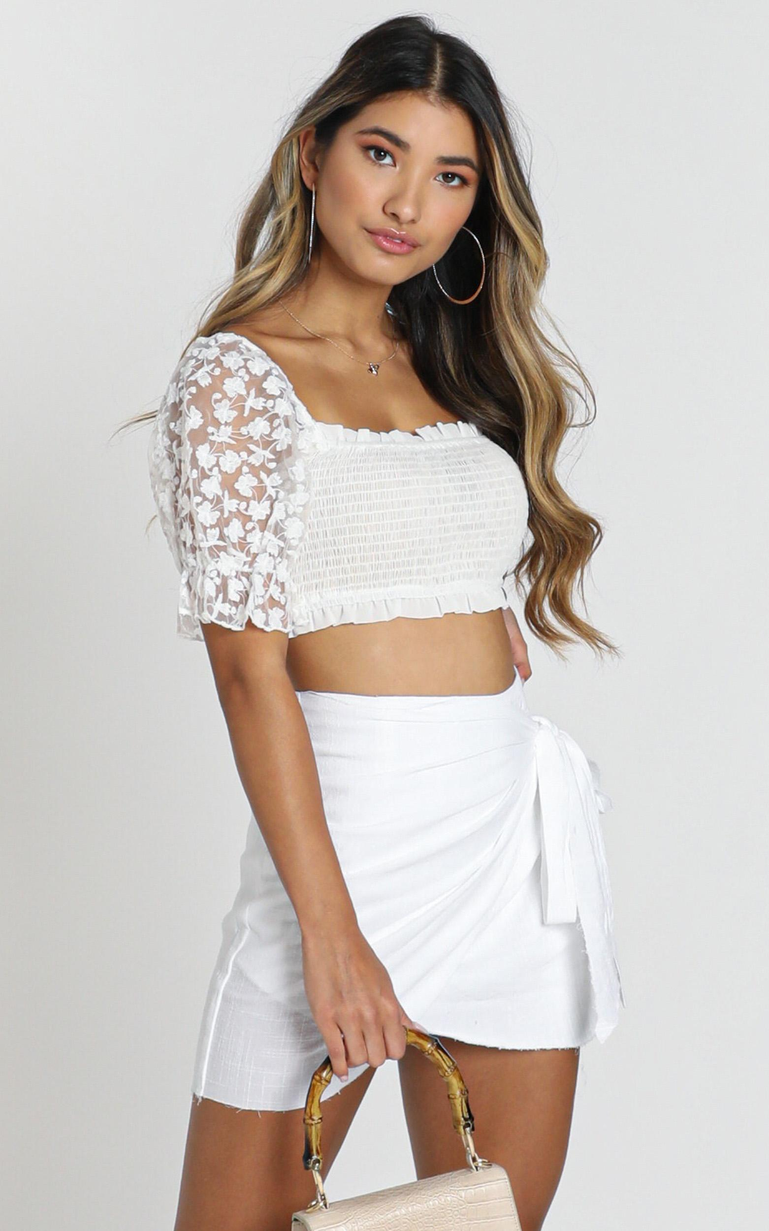 Not Happening skirt in white - 14 (XL), White, hi-res image number null