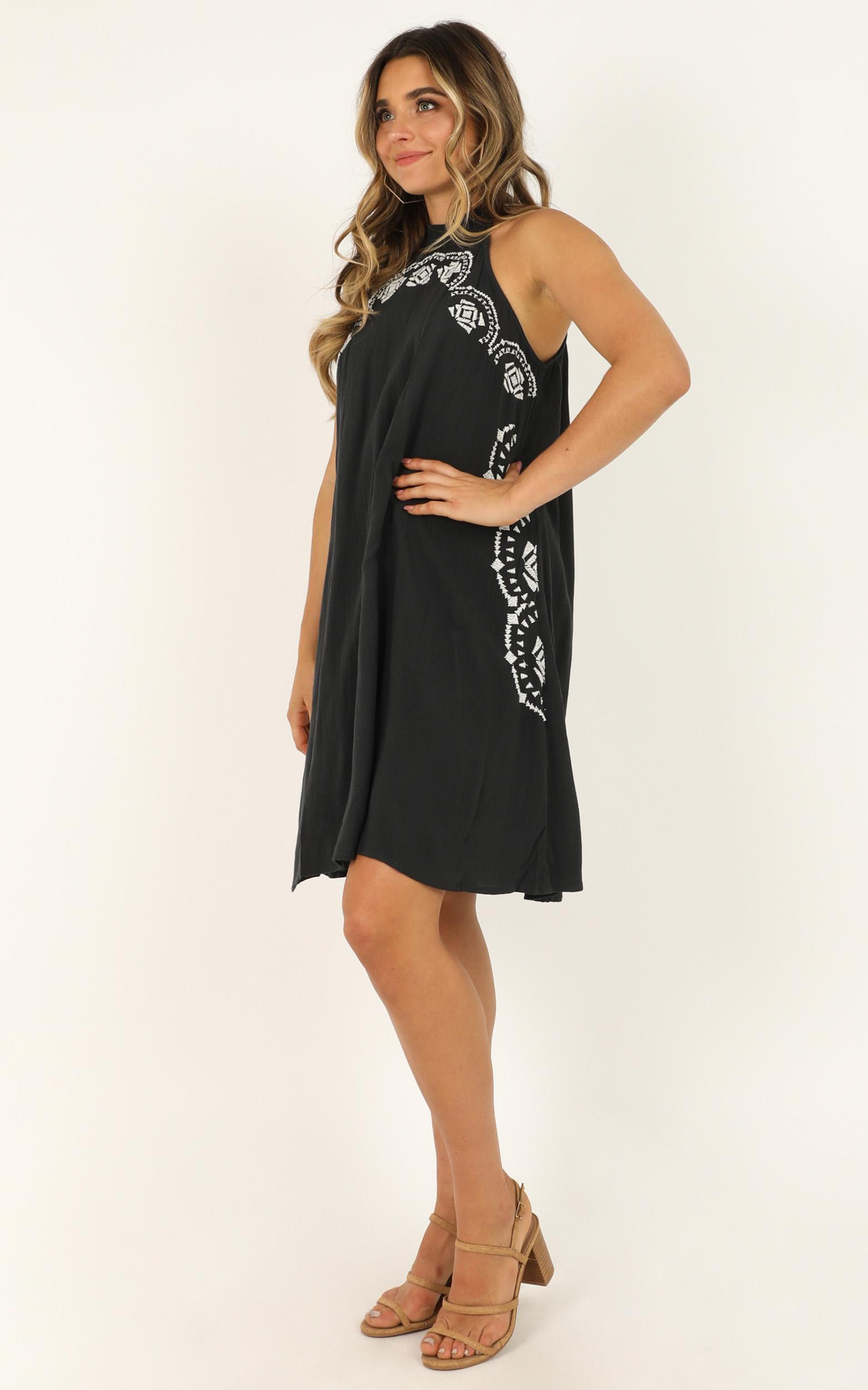Tongue tied dress in black - 12 (L), Black, hi-res image number null