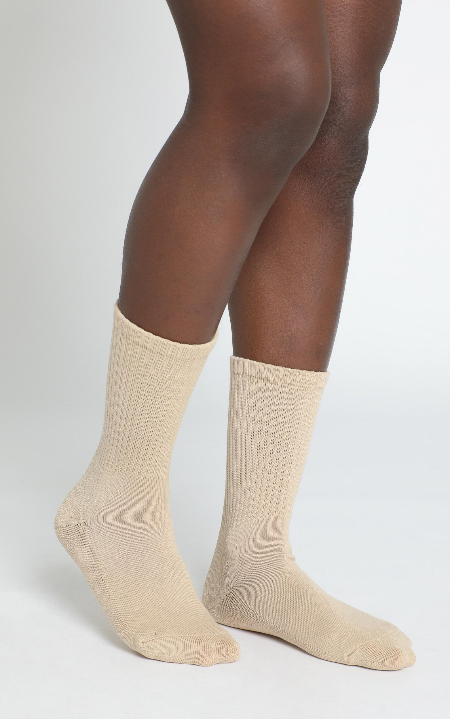 AS Colour - Relax Socks in Tan (2 Pairs) - Sizes 4-8, , hi-res image number null